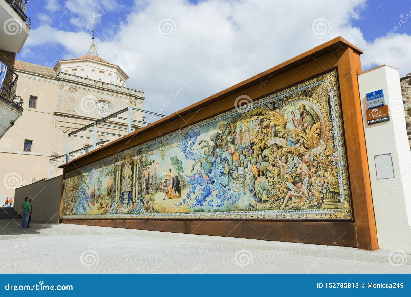 Peinture Murale En Céramique Espagnole Style De Ruiz De