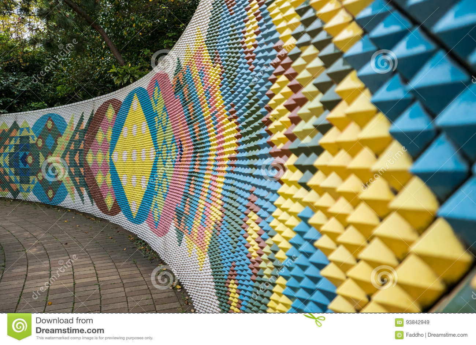 Peinture Murale En Céramique Moderne Colorée De Mur Dans ...