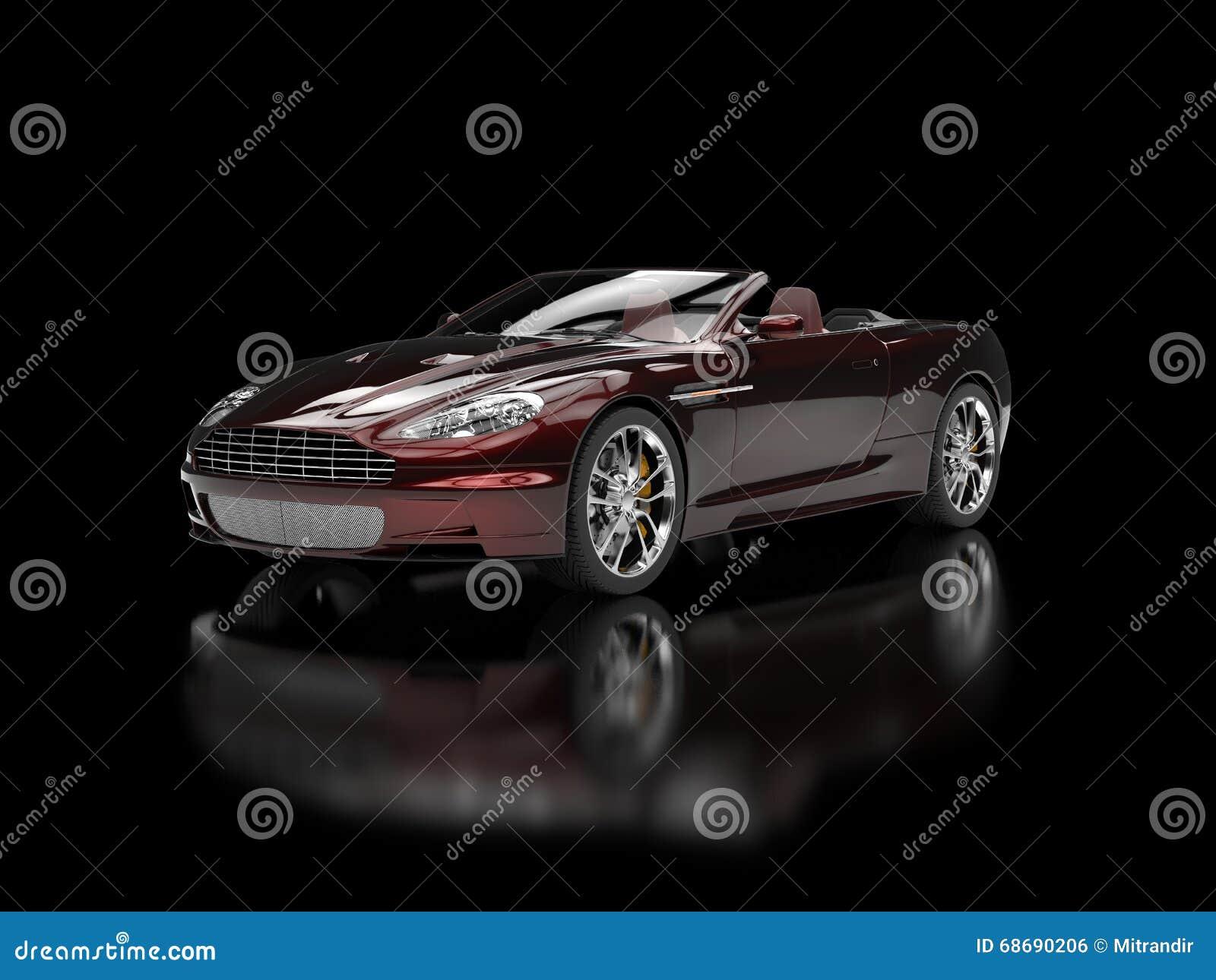 peinture perl e rouge fonc automobile de sports convertibles photo stock image 68690206. Black Bedroom Furniture Sets. Home Design Ideas