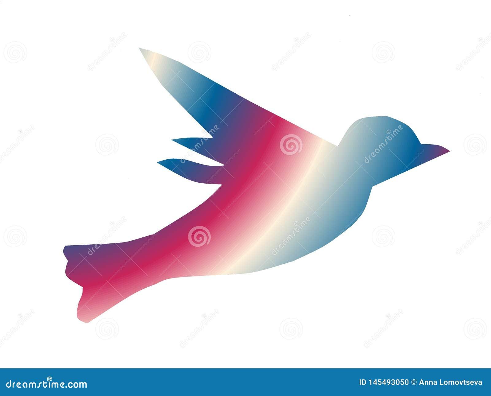 Peinture pour la conception Oiseau d arc-en-ciel