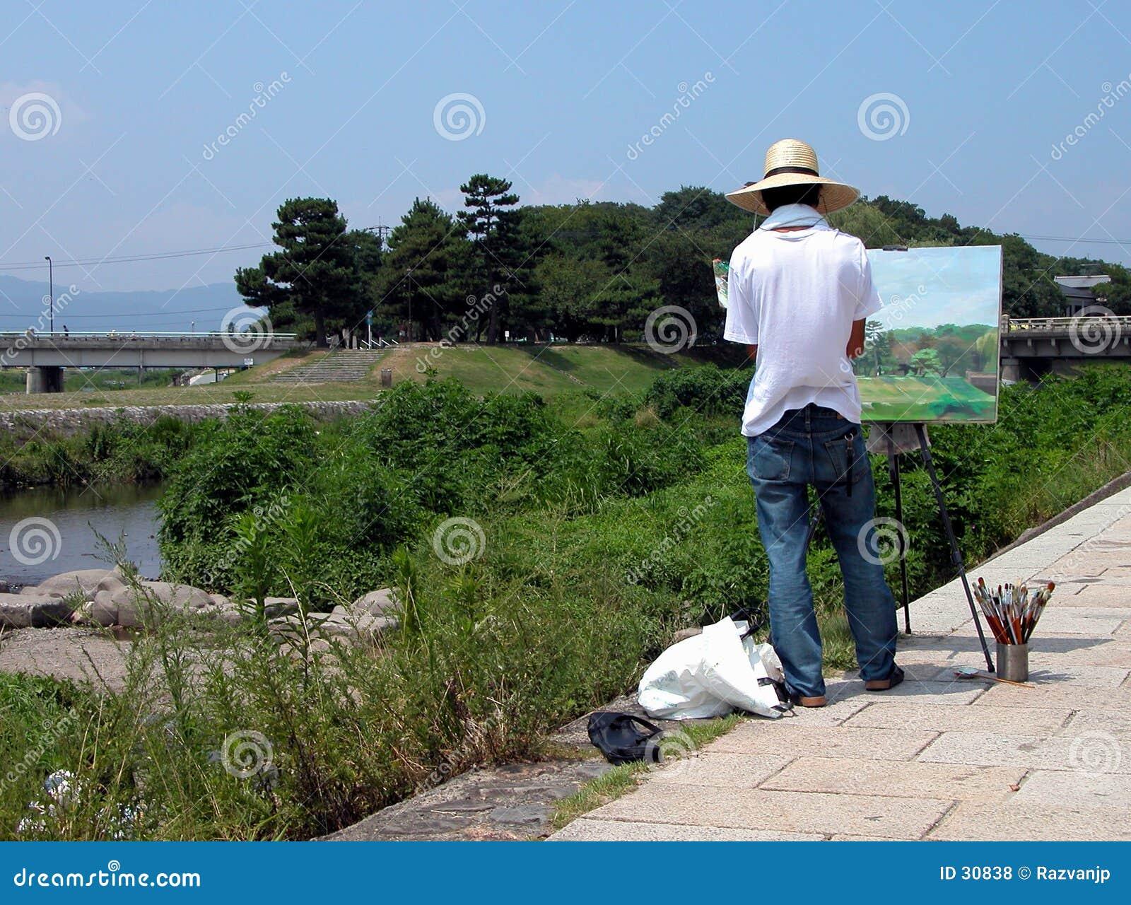 Peinture sur la rive