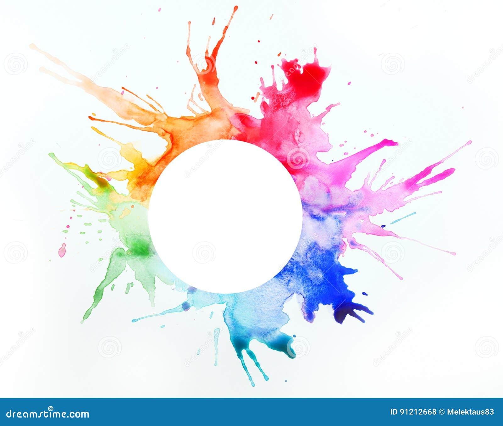 Peinture sur une feuille de papier