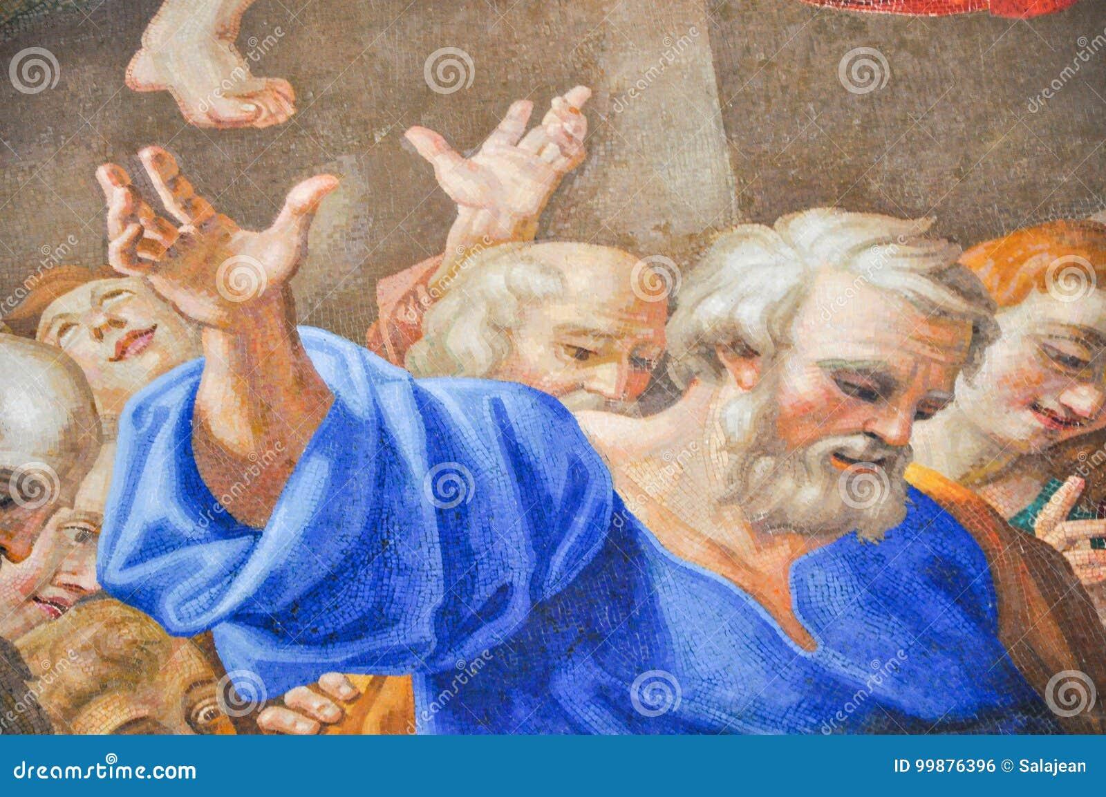 Peintures faites avec la mosaïque dans la basilique de St Peter, Vatican