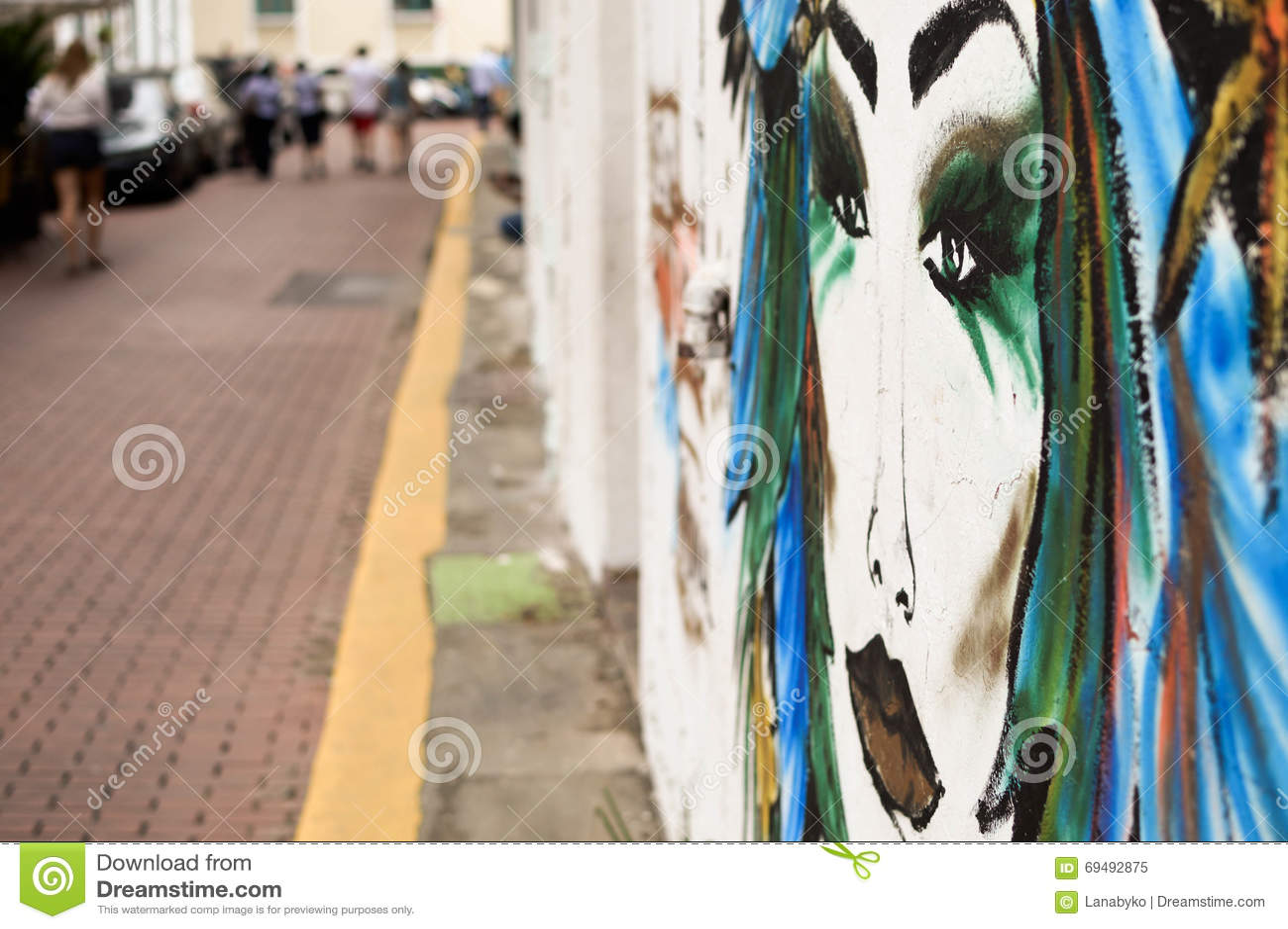 Peintures murales color es dans les rues du secteur for Peintures murales