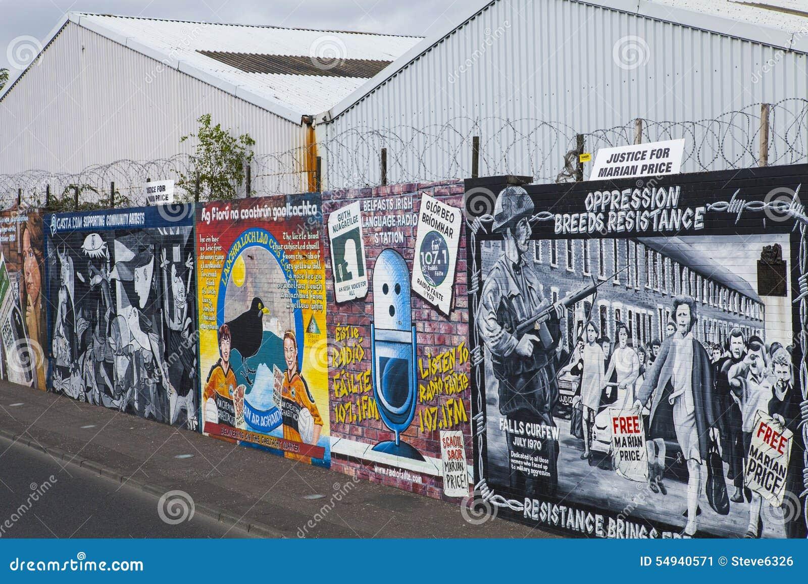 peintures murales de mur de paix de belfast photo ditorial image 54940571. Black Bedroom Furniture Sets. Home Design Ideas