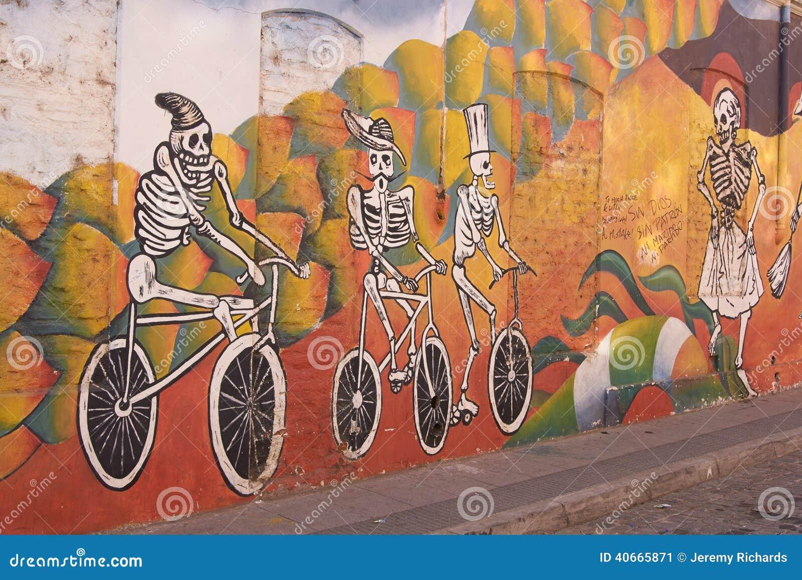 Peintures murales de valparaiso photo ditorial image for Peintures murales