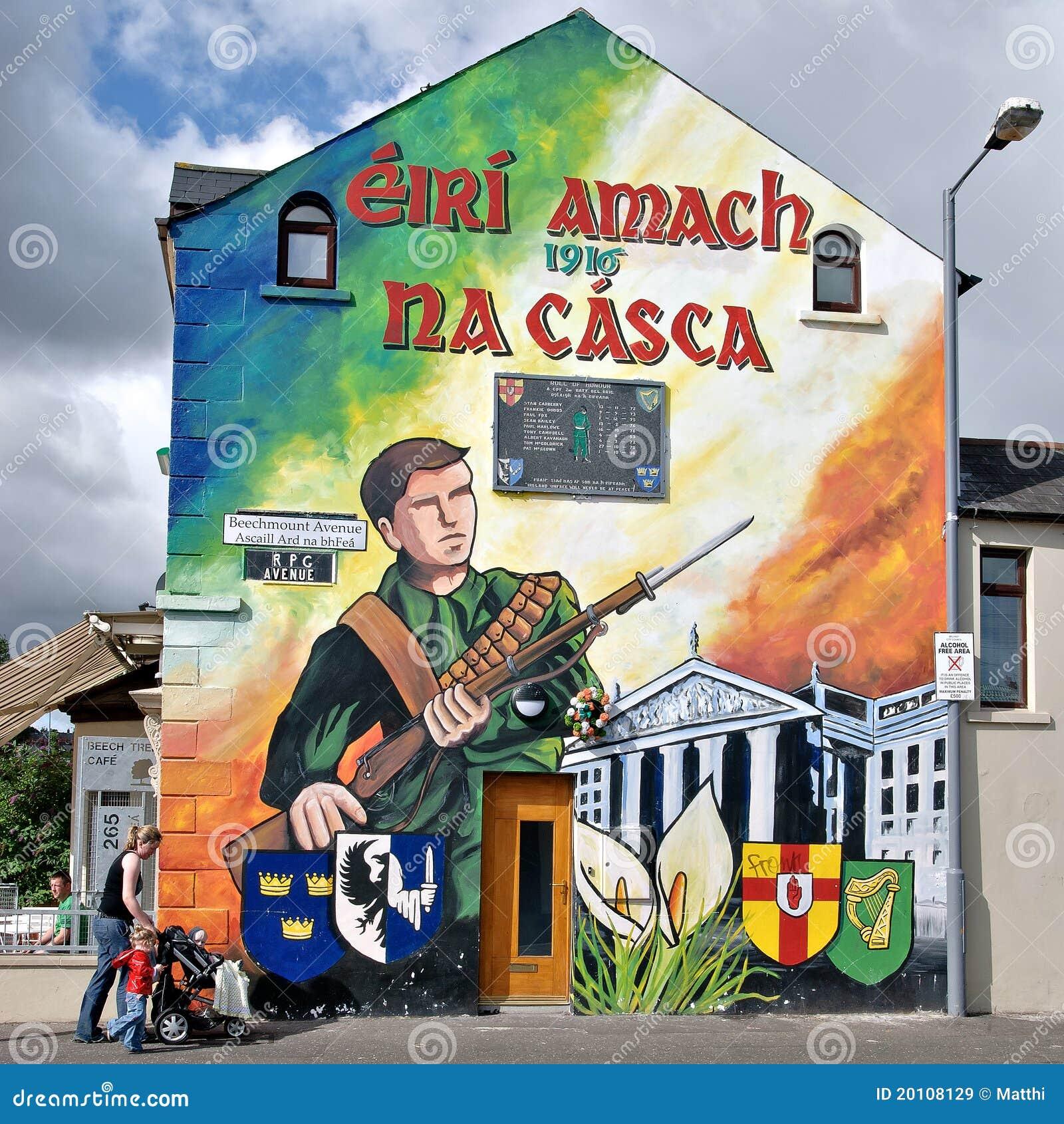 Peintures murales politiques belfast irlande du nord for Mural irlande