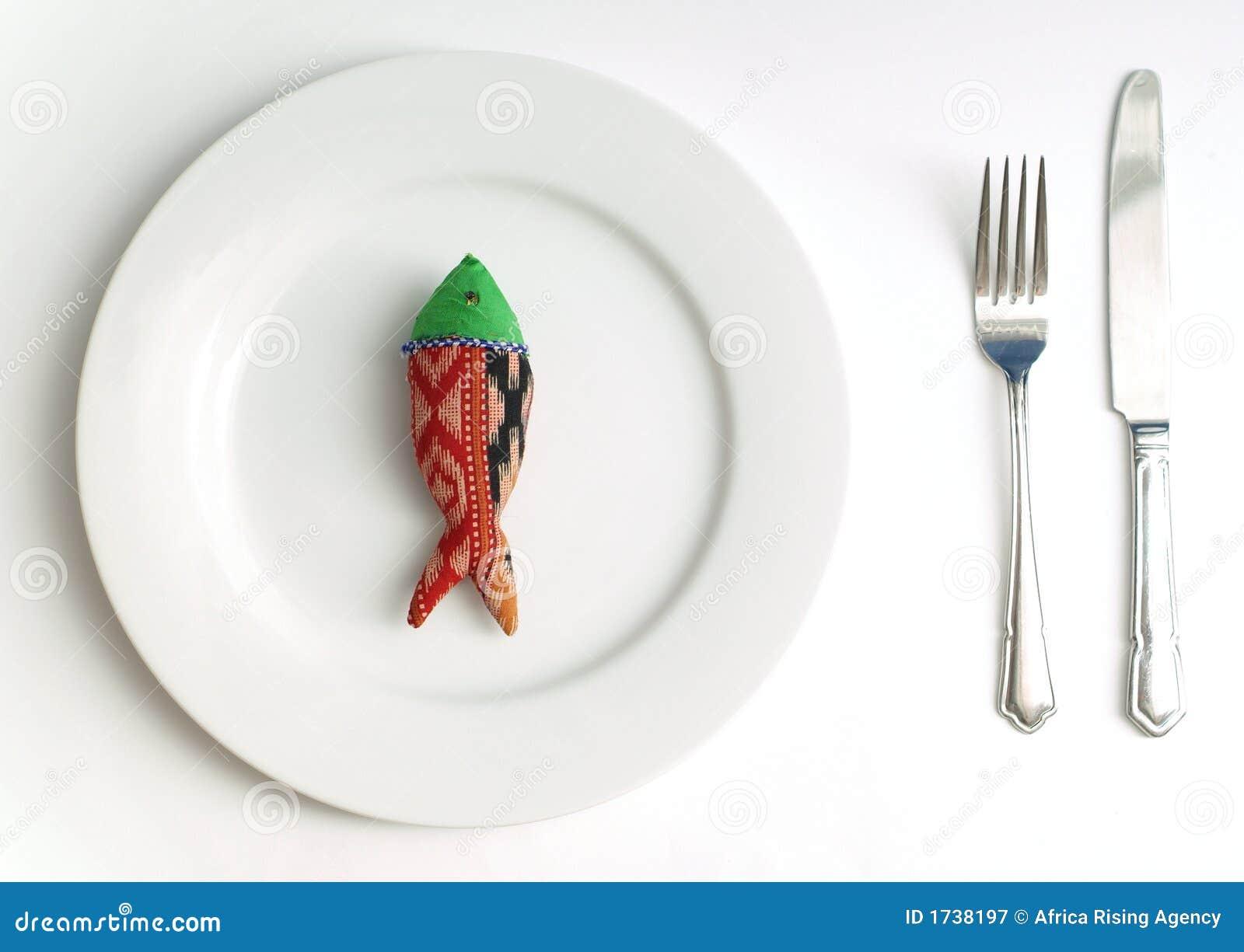 Peixes da dieta para o jantar