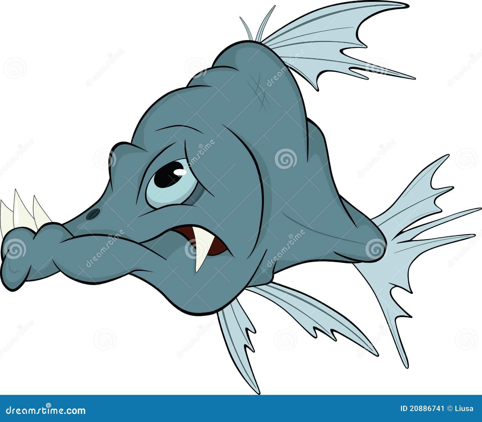 Peixes Deep-water. Desenhos animados