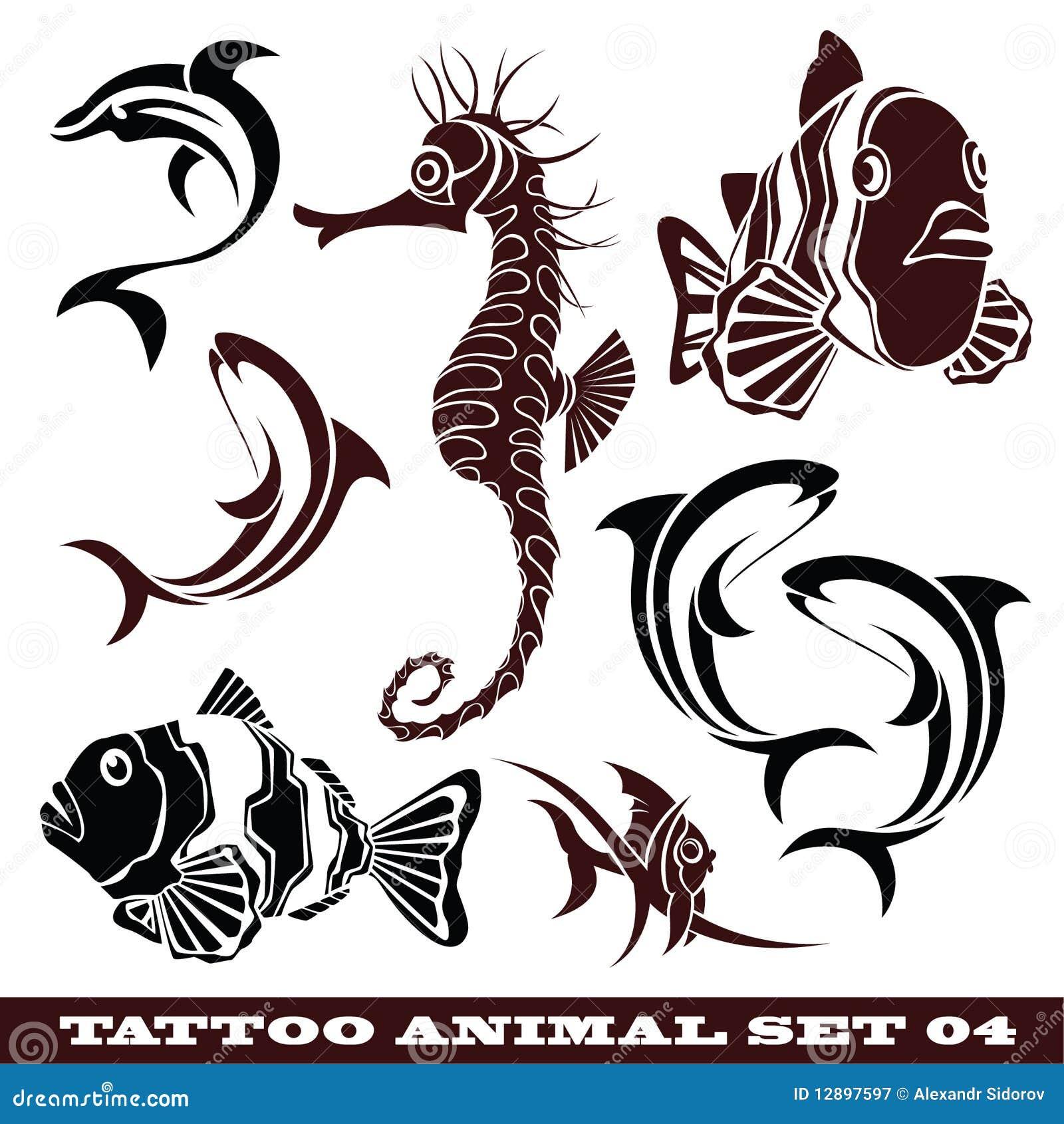 Peixes Do Tatuagem Ilustração Do Vetor. Ilustração De