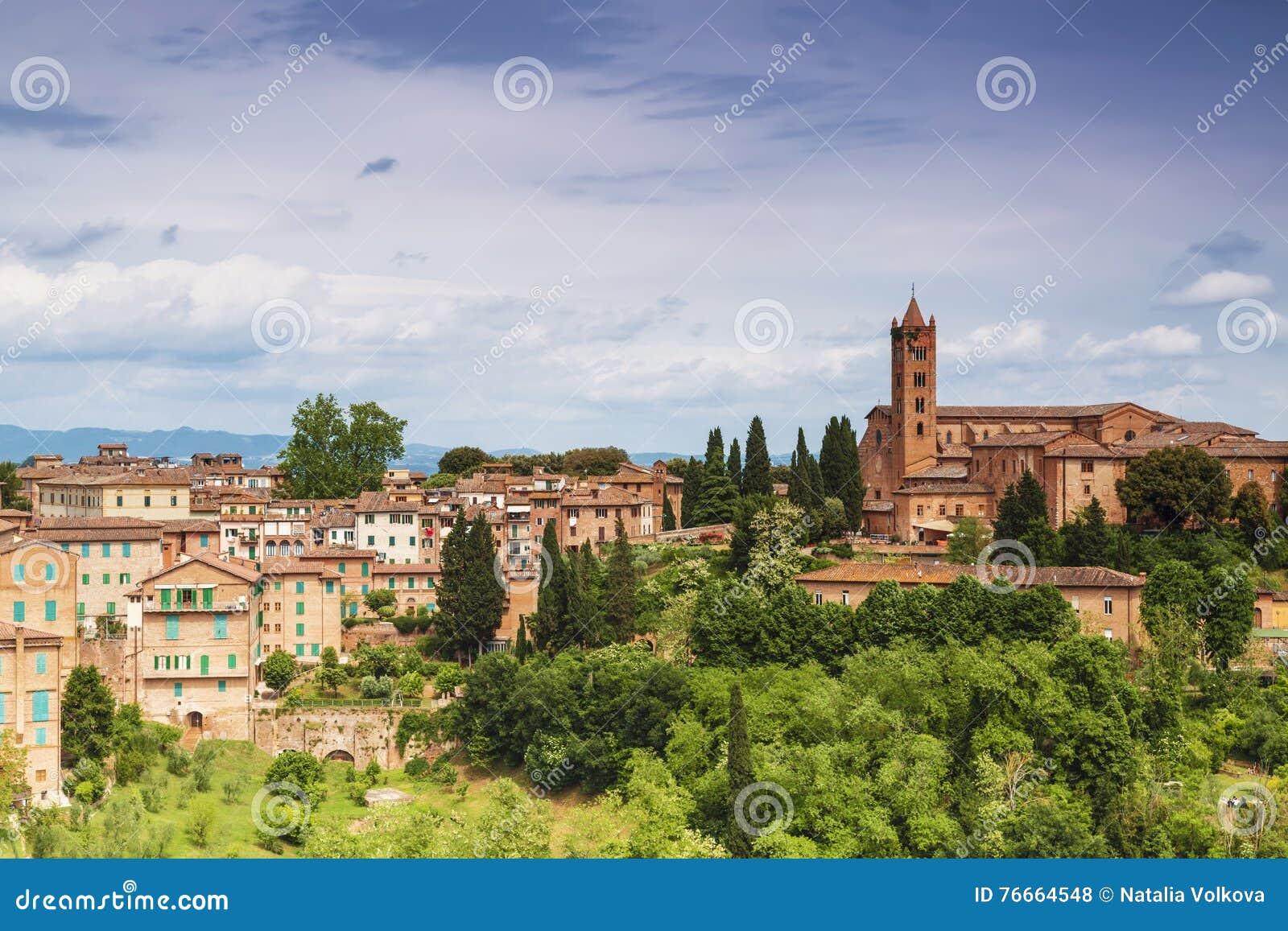 Pejzaż miejski miasto Siena, Tuscany