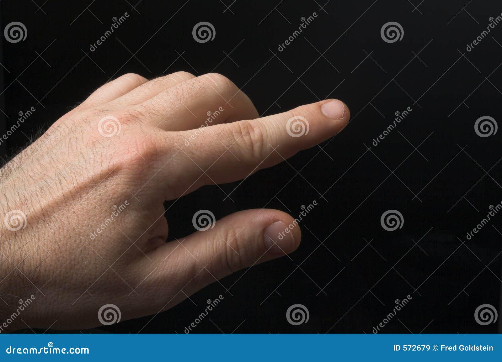 Peka för finger