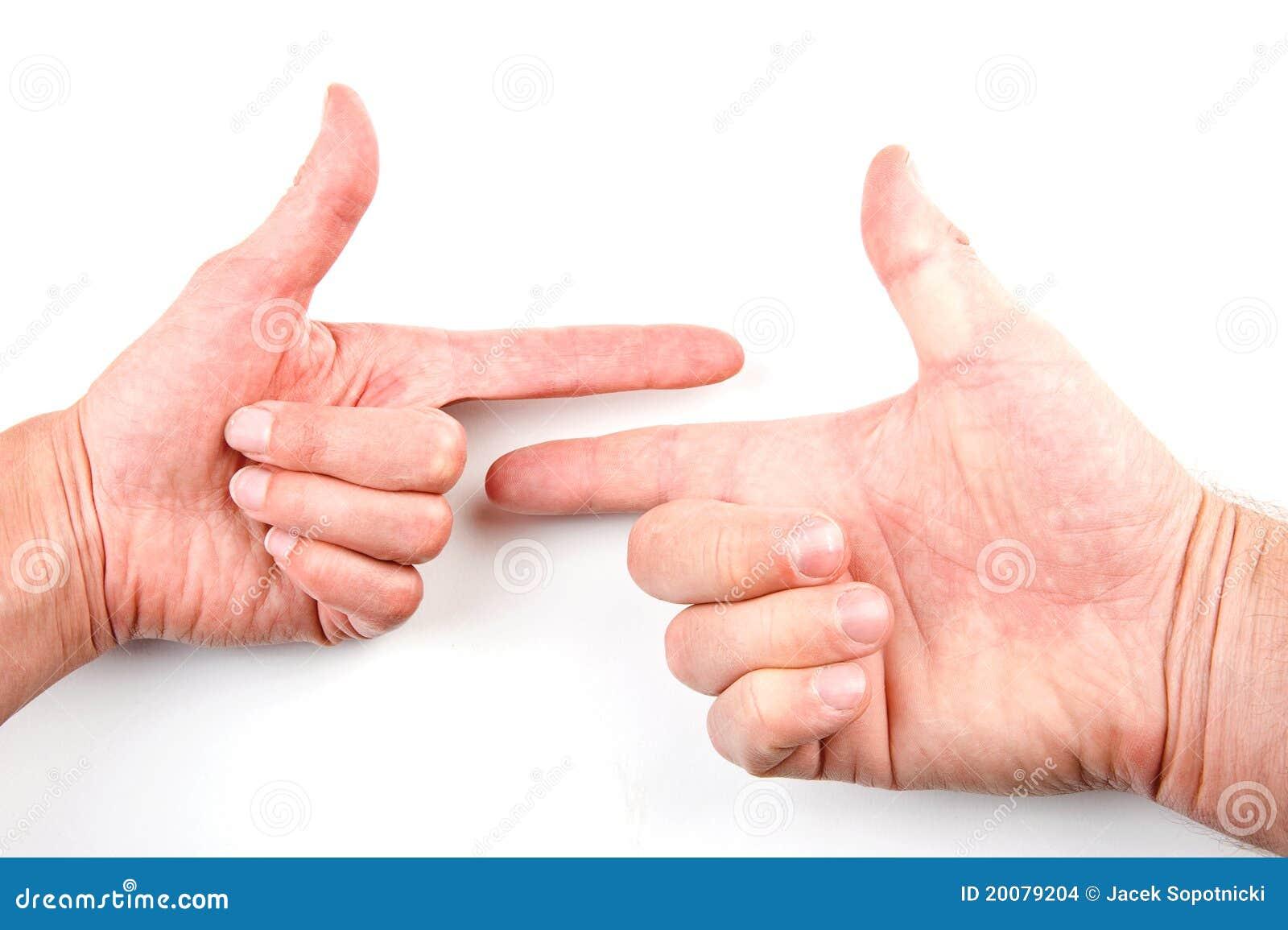 Peka för händer
