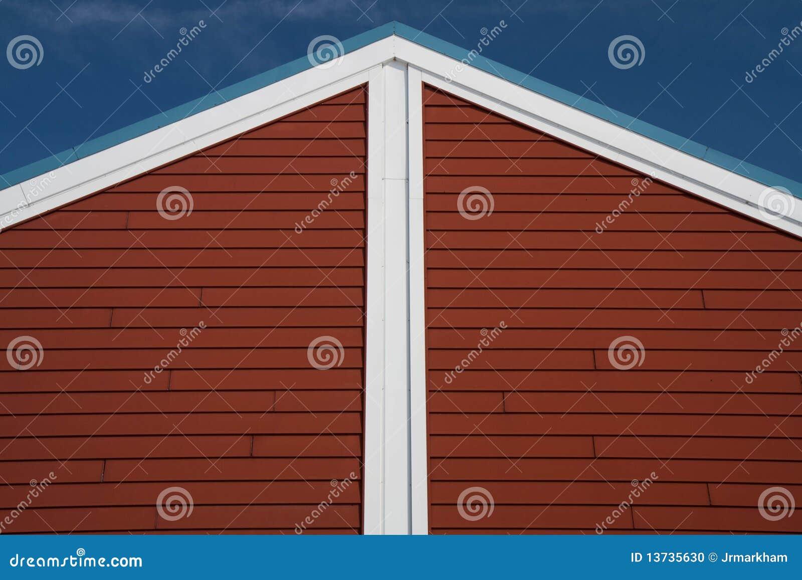 Peka röd white för roofline skyward