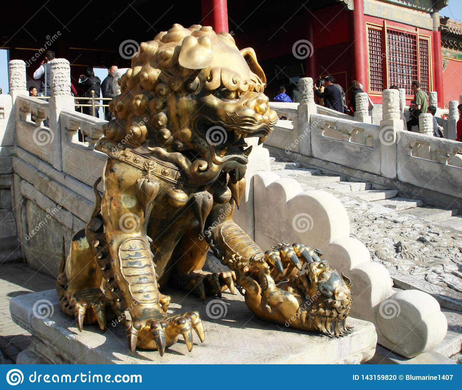 Pekin/Chine - lion de chinois traditionnel