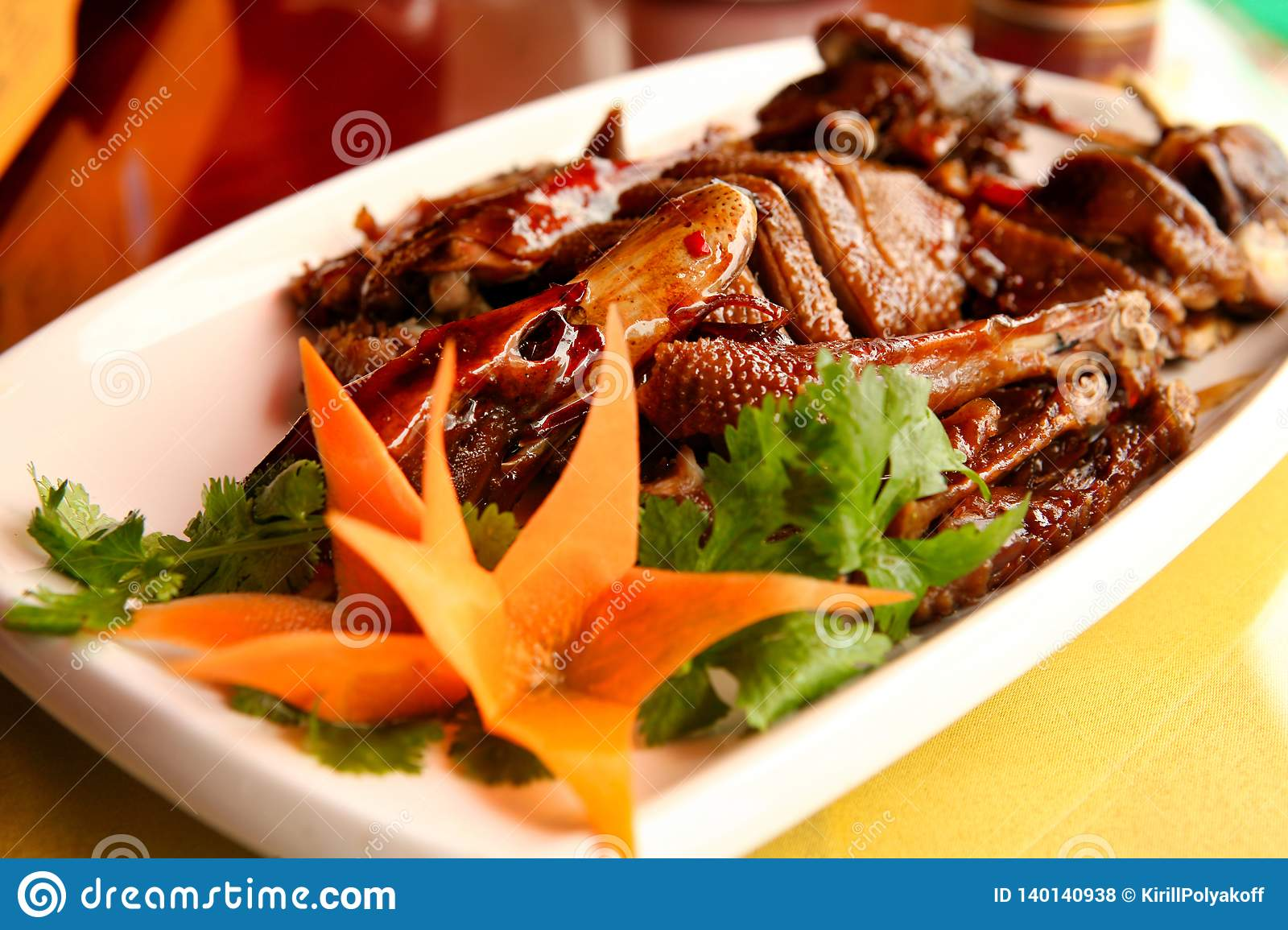 One of the most famous dishes in Chinese cuisine is the Peking duck.