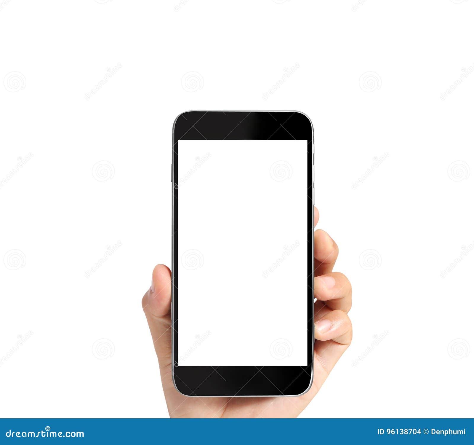 Pekskärmsmartphone i hand