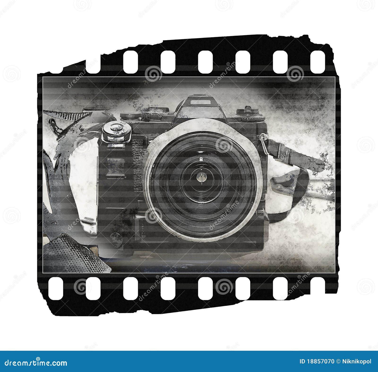 Película (textura, câmera velha)