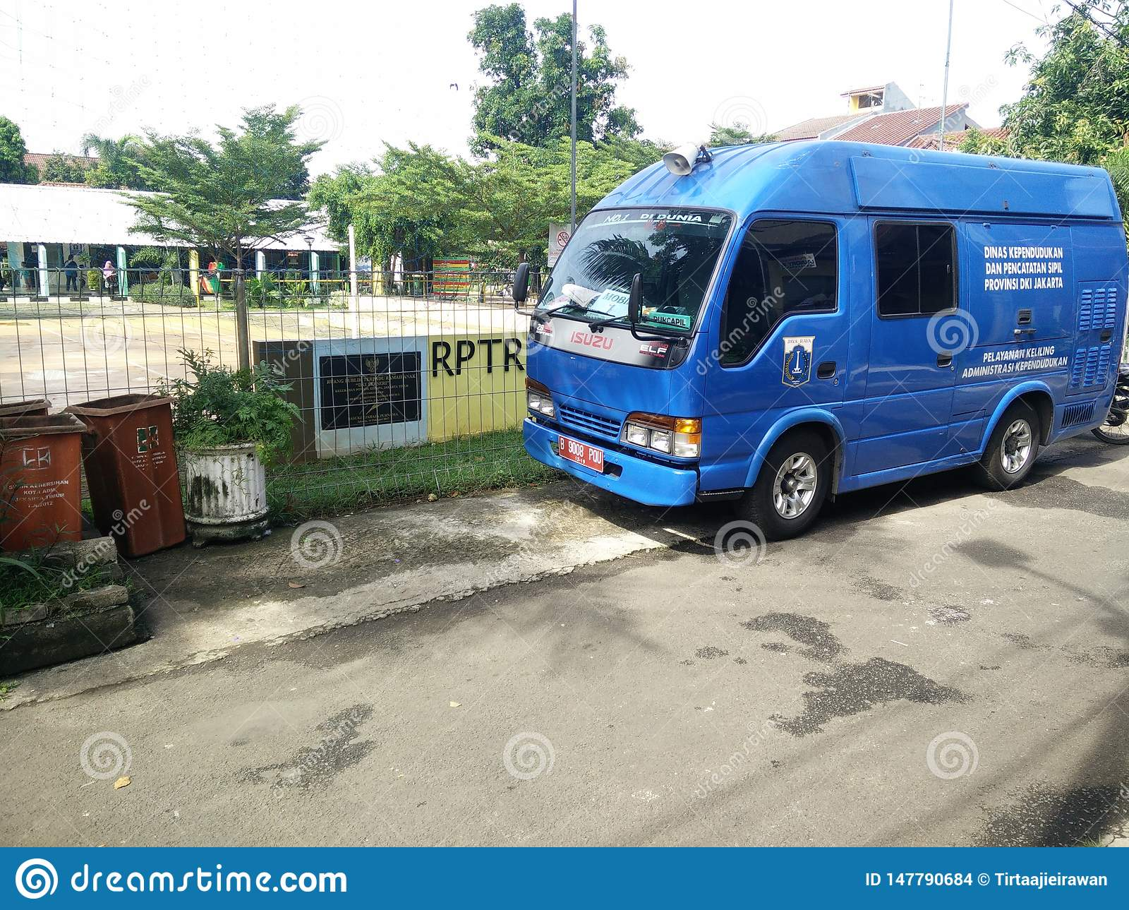 mobile service for making a childs identity card, Jakarta, Indonesia April 2 2019