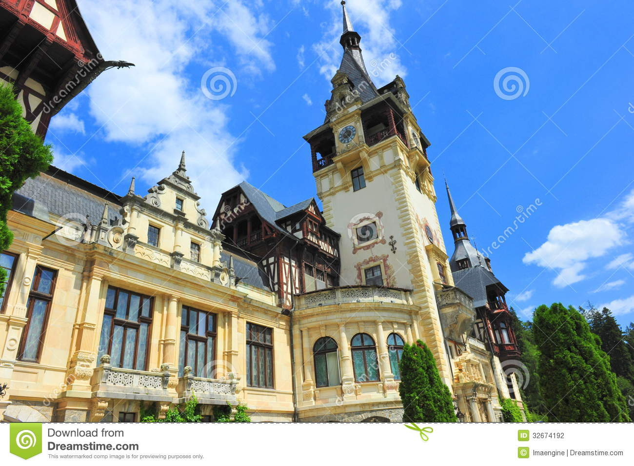 Peles castle stock photography image 32674192 for Baroque architecture elements
