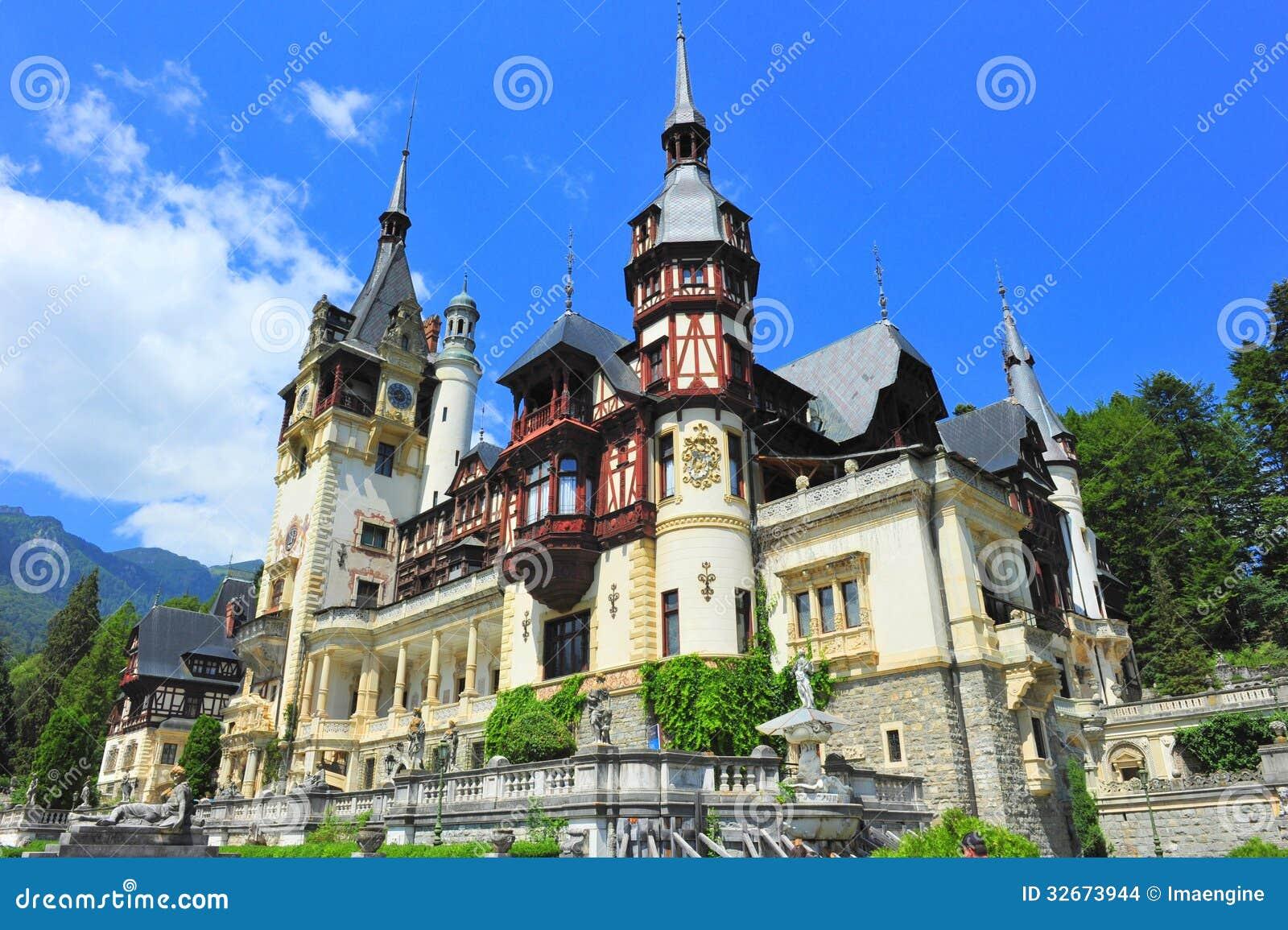 Peles castle sinaia romania stock photo image 32673944 - Romanian architectural styles ...