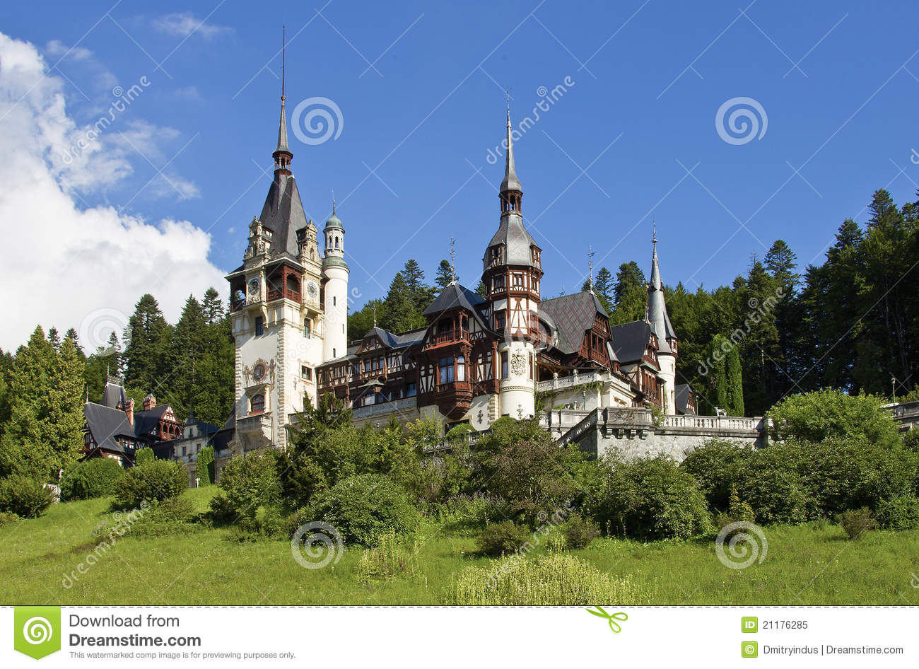 Pelesh castle in Sinaia (Romania)