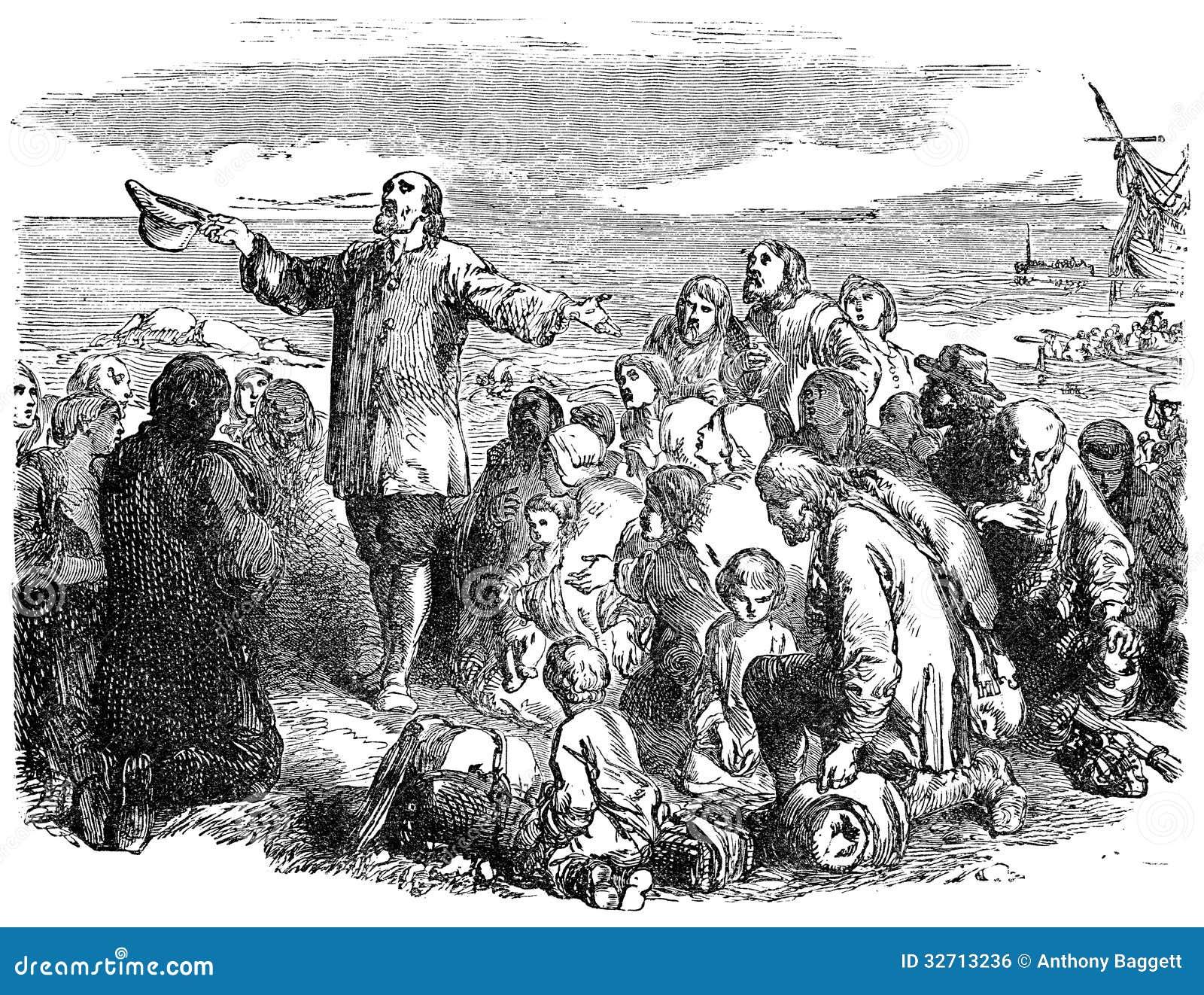 Pelgrimsvaders die Engeland verlaten