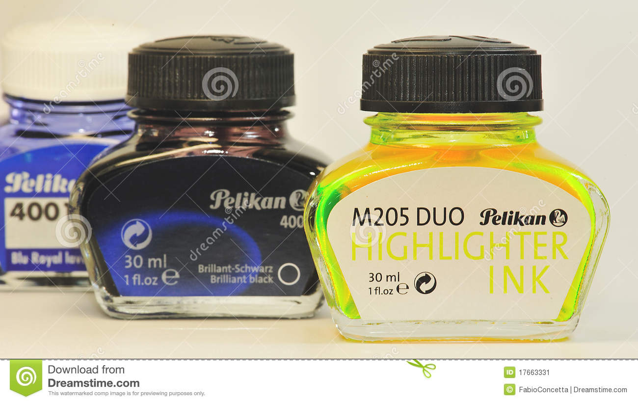 Download Pelikan ink 2 editorial photo. Image of yellow, labels - 17663331
