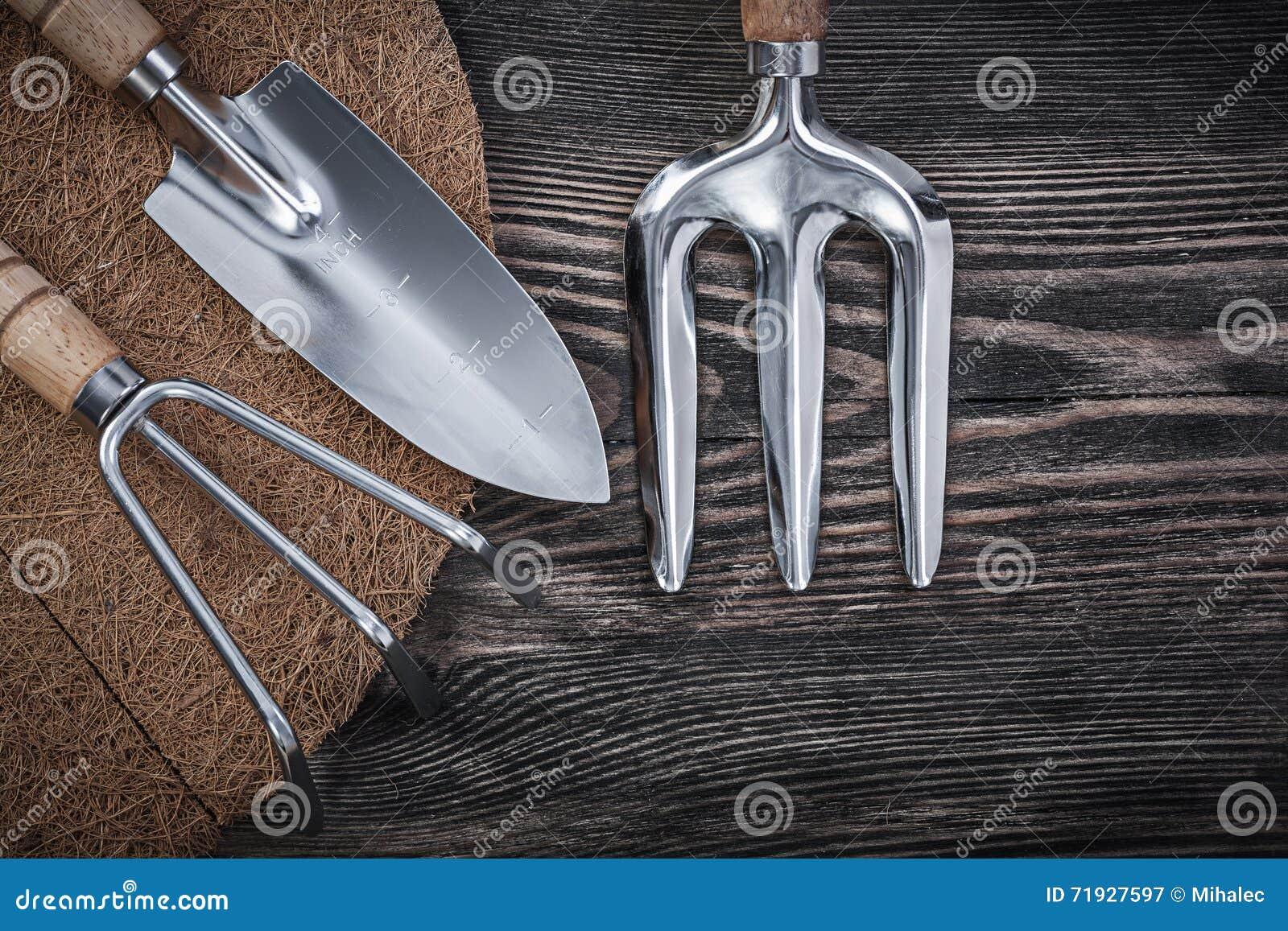 Paillis Noix De Coco pelle à fourchette de truelle de râteau de tapis de paillis