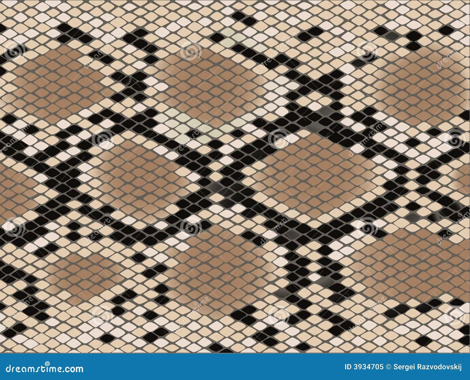 Pelle di serpente del reticolo della losanga