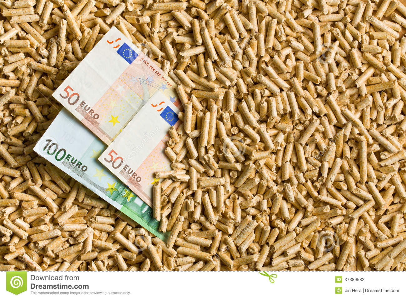 pellets with euro bills stock photo image of wooden