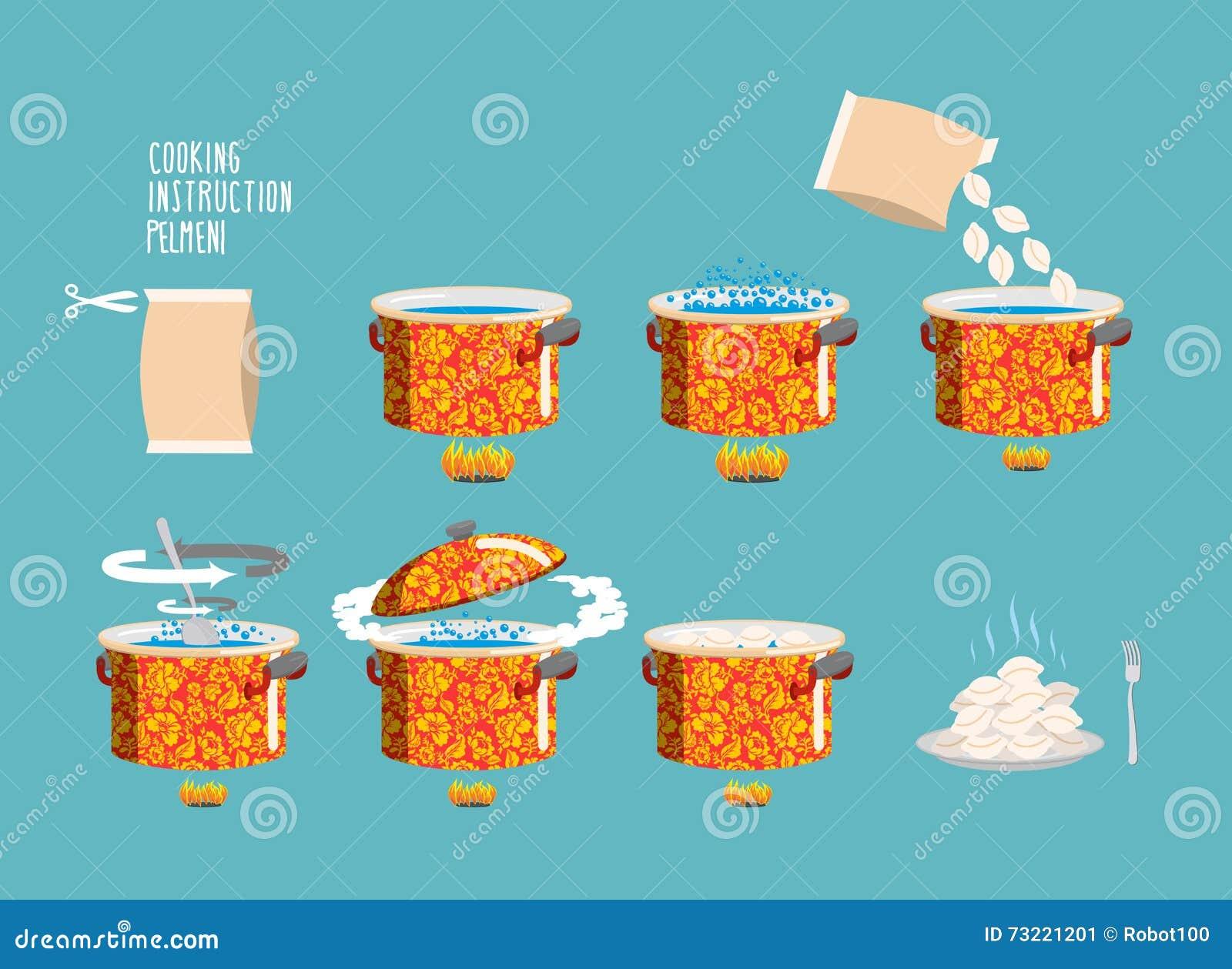 Pelmeni kulinarna instrukcja Domowego kucharstwa przepis Kulinarny przepis