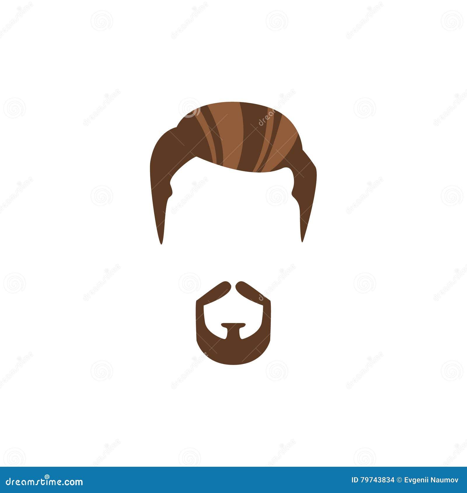Pelo masculino del inconformista y estilo facial con la barba del círculo