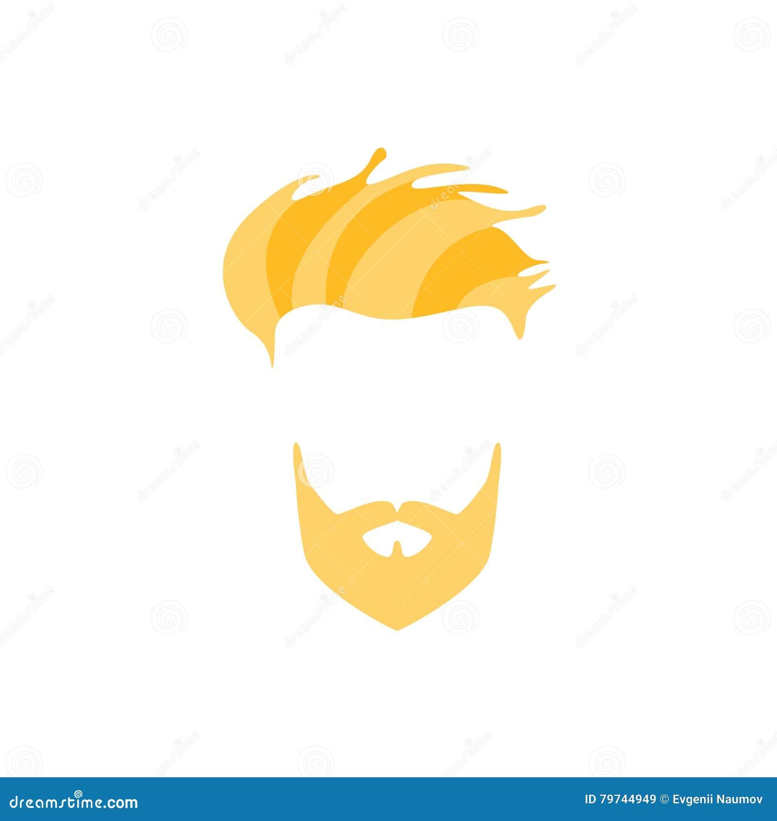 Pelo masculino del inconformista y estilo facial con la franja rubia llena del lado de la barba