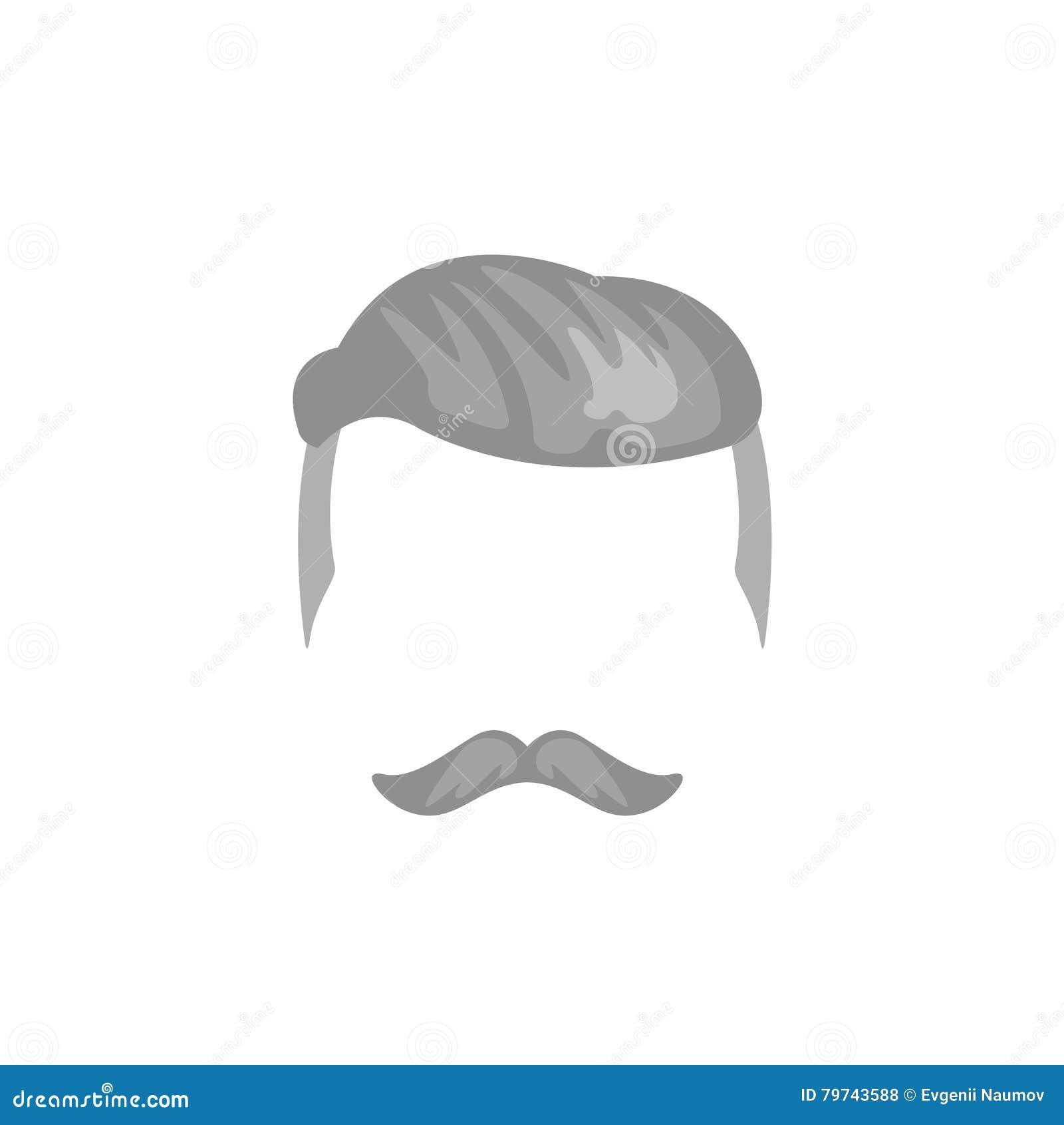 Pelo masculino del inconformista y estilo facial con la socava
