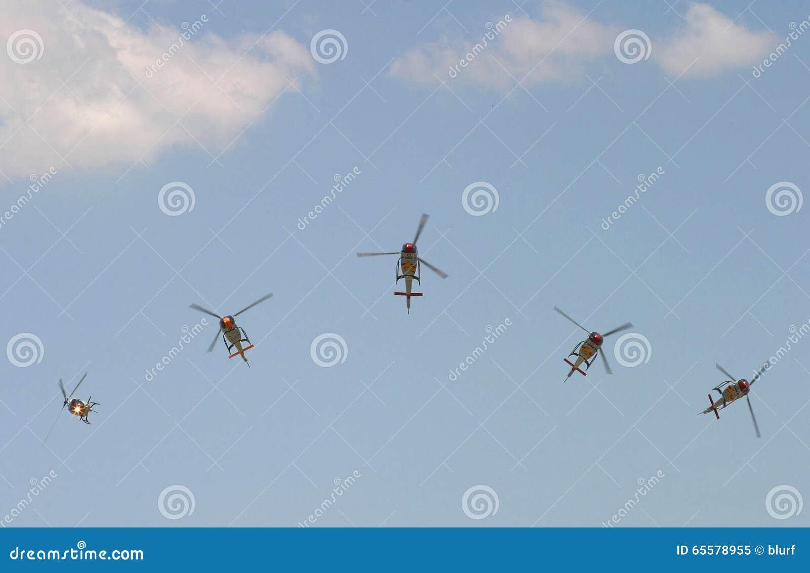 Pelotão militar do acrobacy de Aspa SpainÂ
