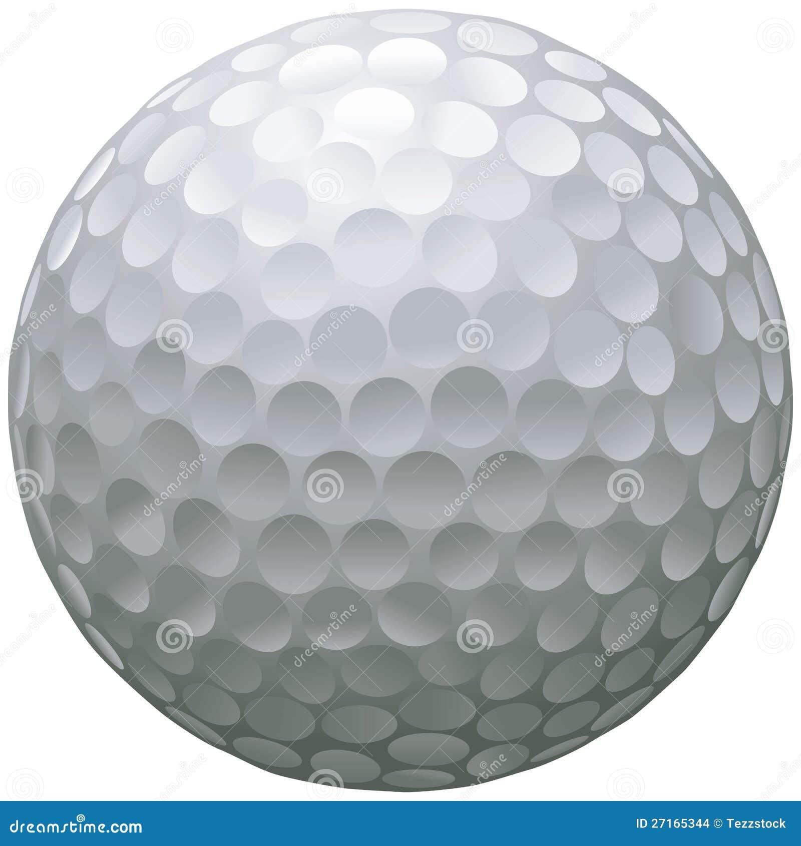pelota de golf aislada ilustraci n del vector imagen de detalle 27165344. Black Bedroom Furniture Sets. Home Design Ideas