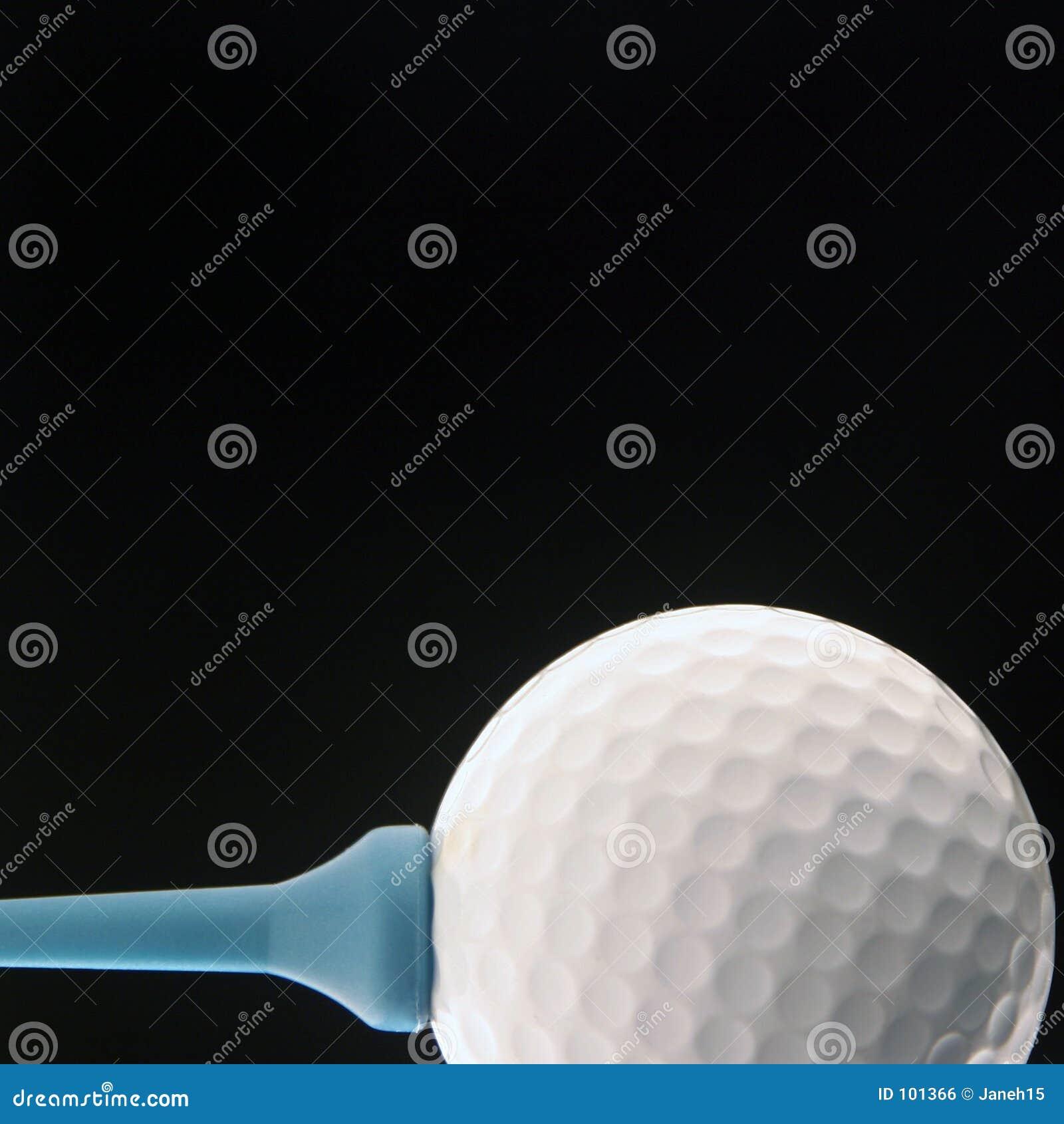 Pelota de golf en negro
