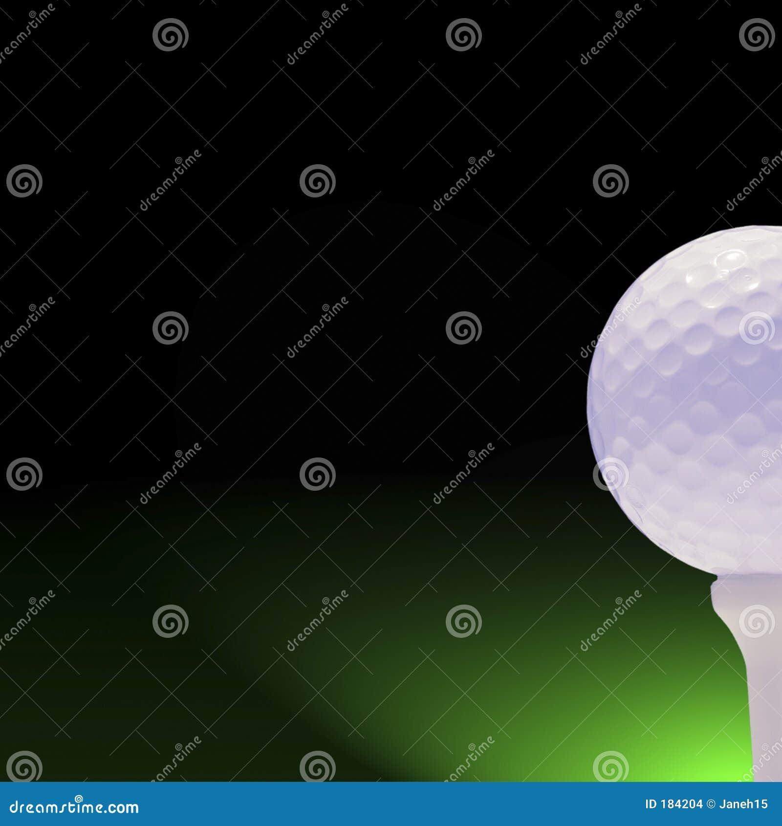 Pelota de golf en verde y negro
