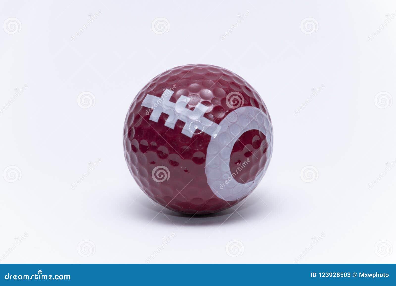 df1b2cd2e144f Pelota de golf pintada como pelotas de golf del fútbol americano de la bola