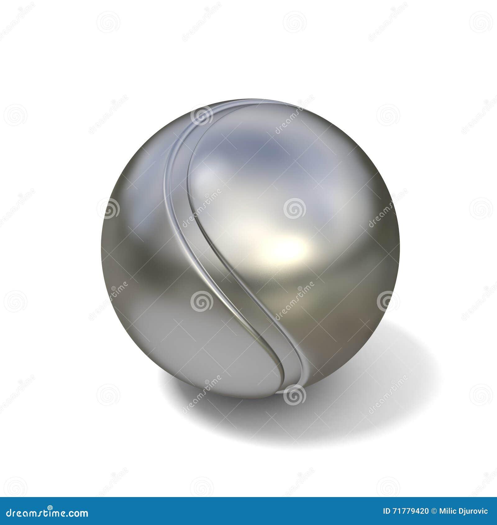 Tenis pelota stock de ilustracion ilustracion libre de stock de - Pelota De Tenis De Plata Aislada En El Fondo Blanco 3d
