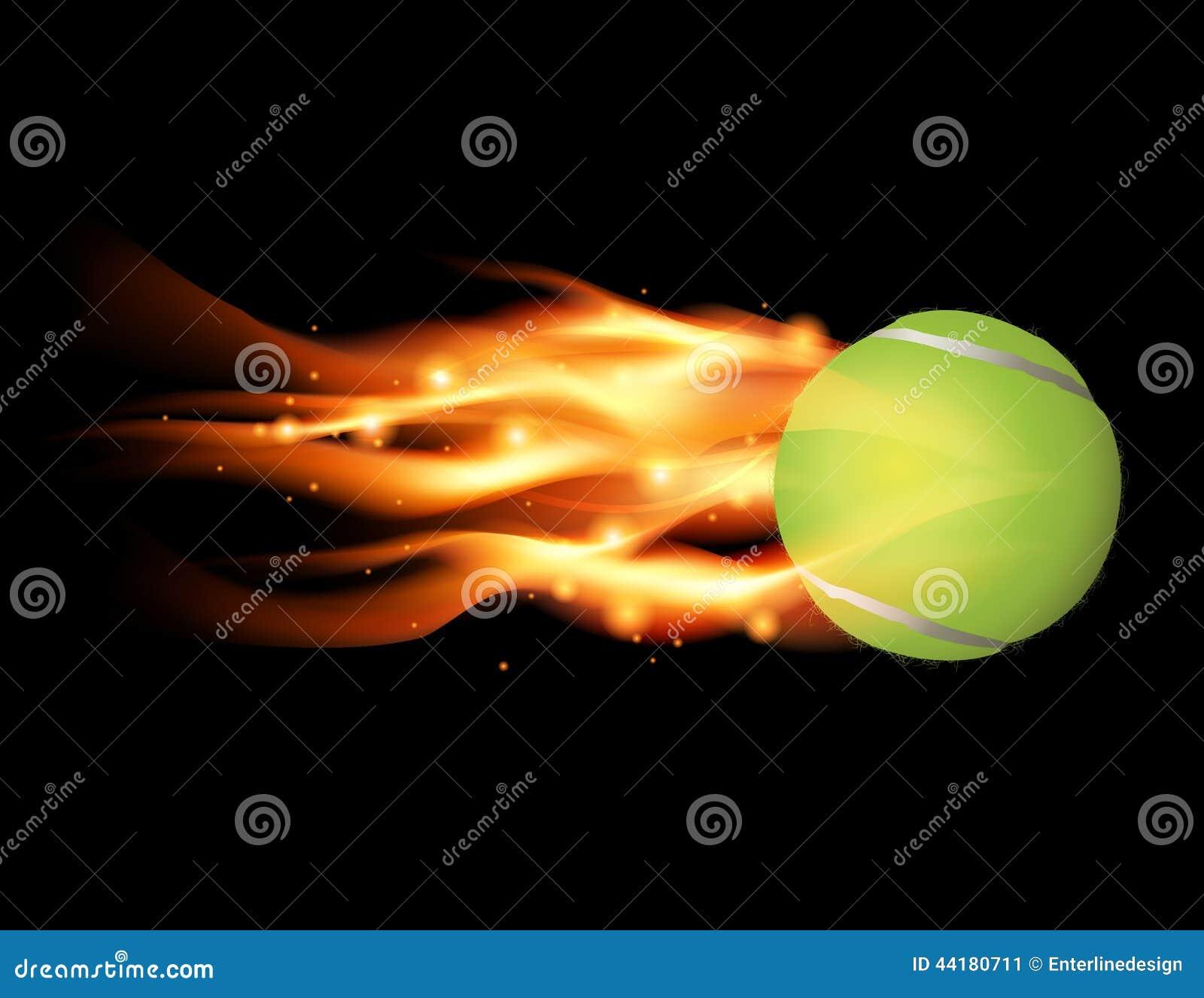 Tenis pelota stock de ilustracion ilustracion libre de stock de - Pelota De Tenis En El Ejemplo Del Fuego