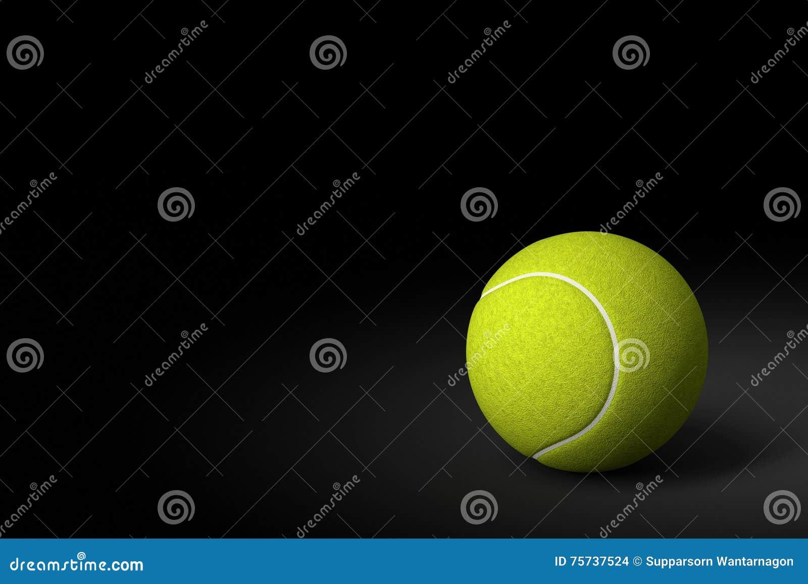 Tenis pelota stock de ilustracion ilustracion libre de stock de - Pelota De Tenis En El Fondo Negro Representaci N 3d