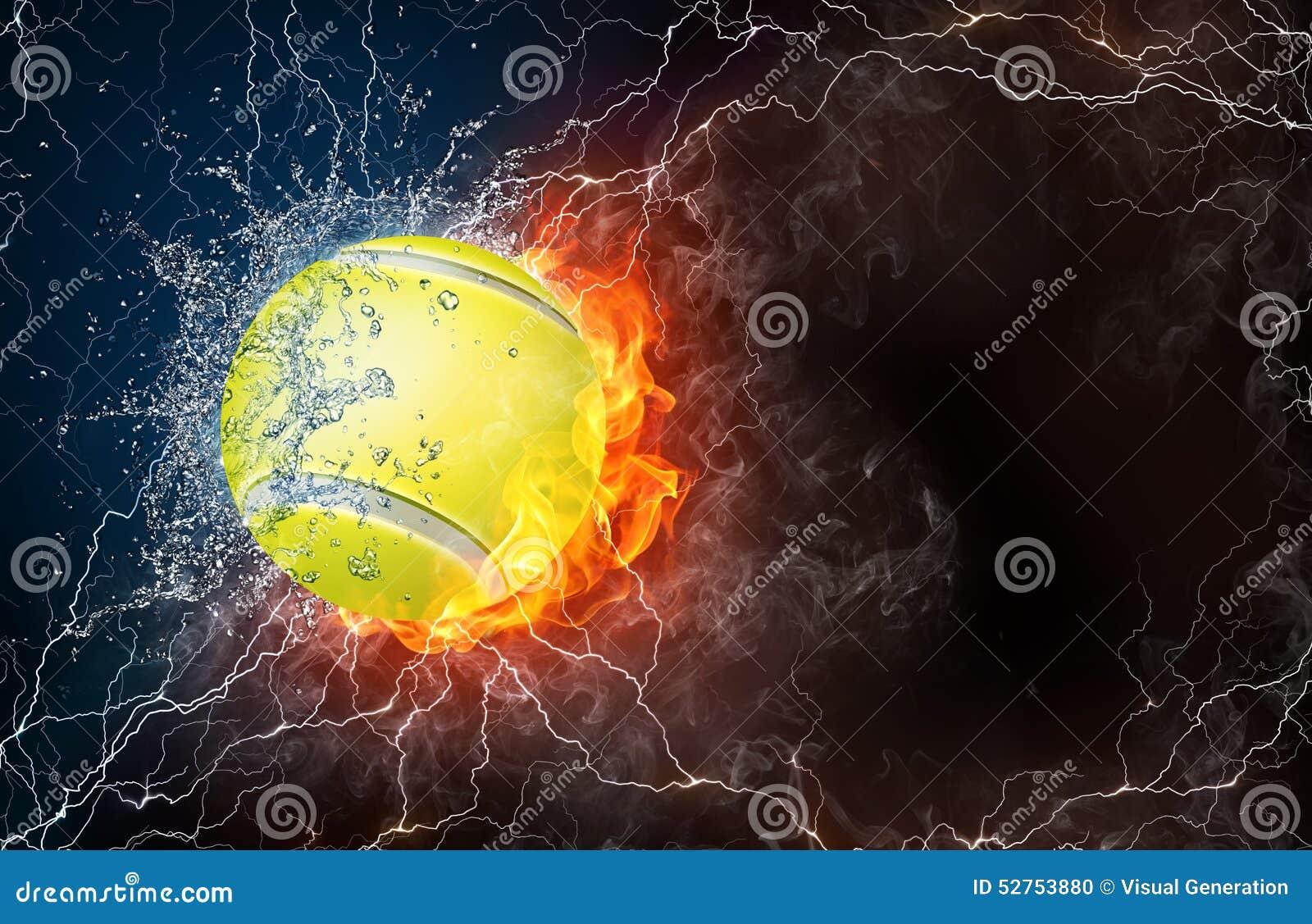 Tenis pelota stock de ilustracion ilustracion libre de stock de - Pelota De Tenis En Fuego Y Agua
