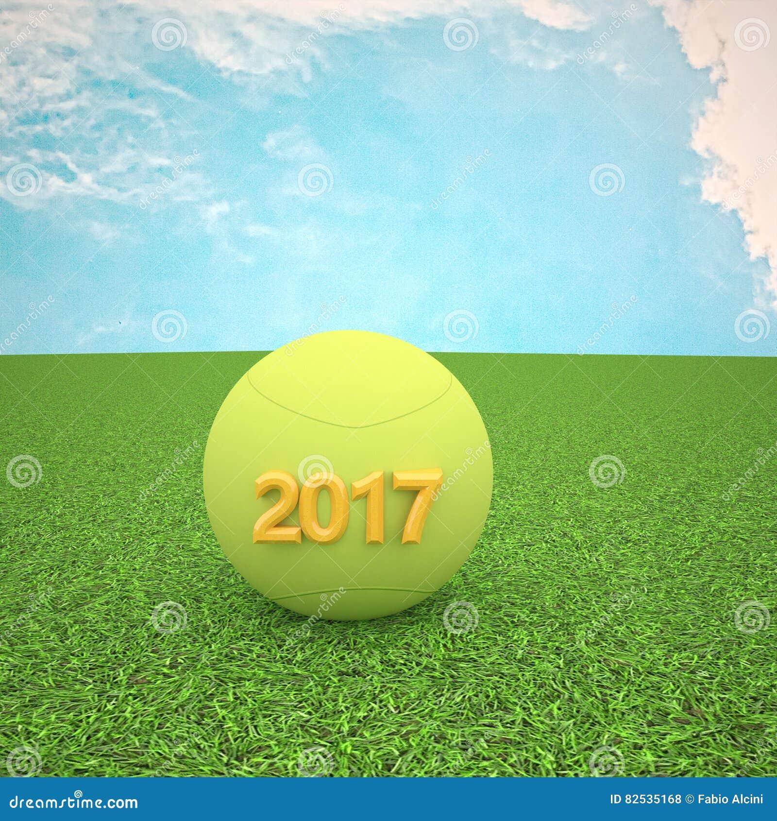Tenis pelota stock de ilustracion ilustracion libre de stock de - Pelota De Tenis Por El A O 2017 Stock De Ilustraci N