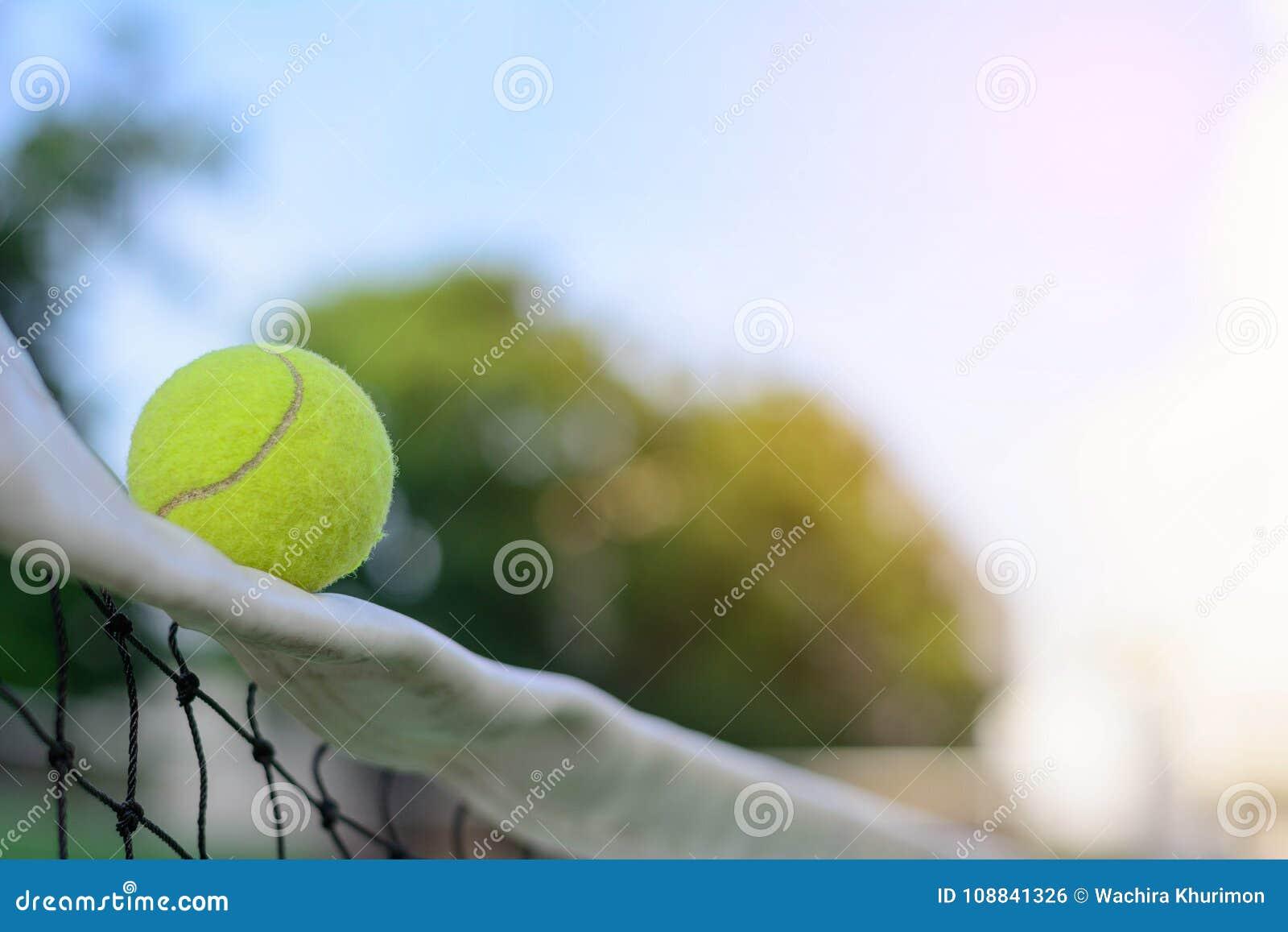 Pelotas de tenis en red