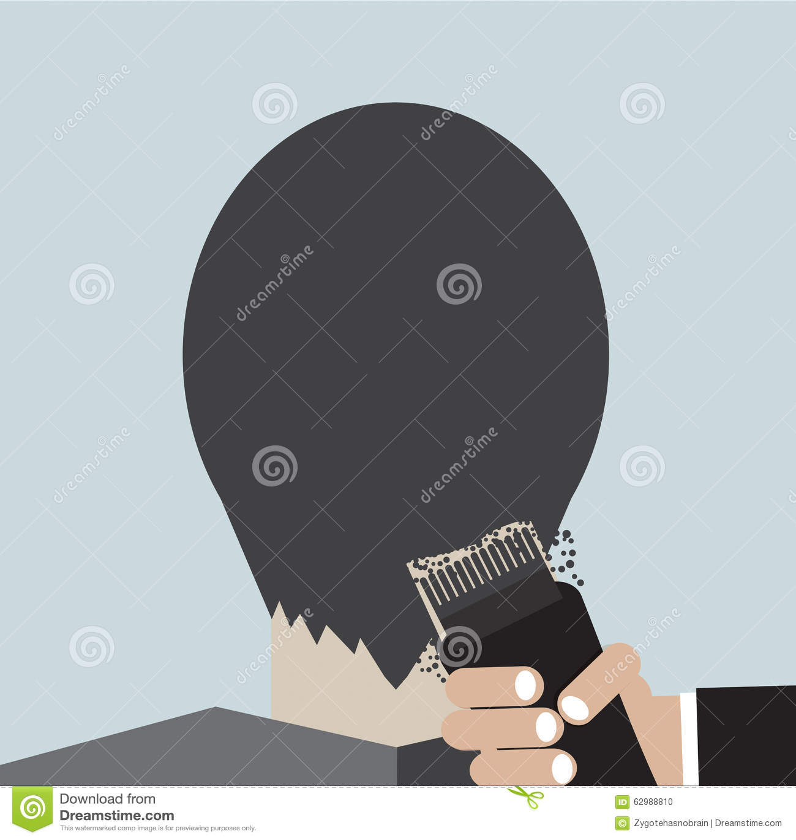 Peluquero Using Hair Clipper