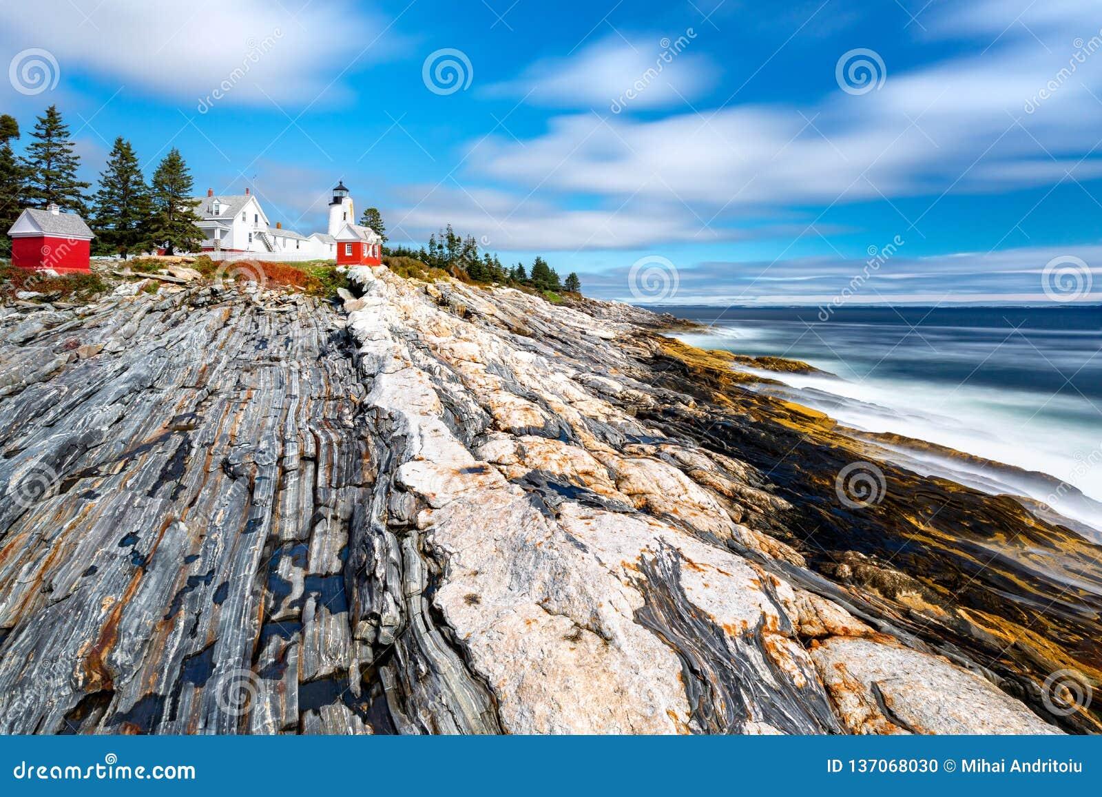 Pemaquid punktu światło w Maine