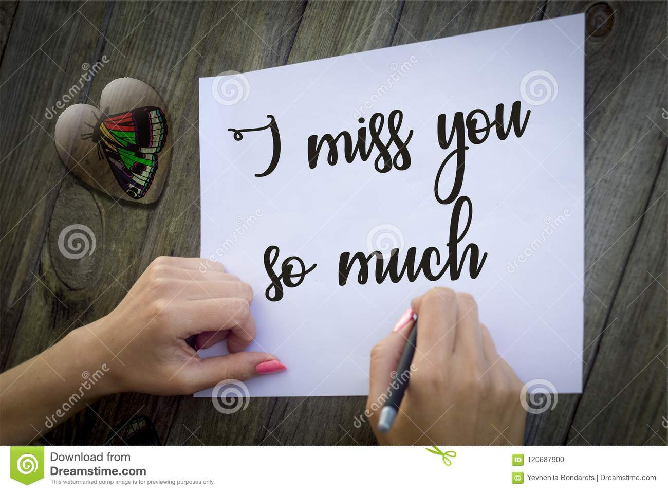 I Miss You So Much Illustration Foto Stock Illustration