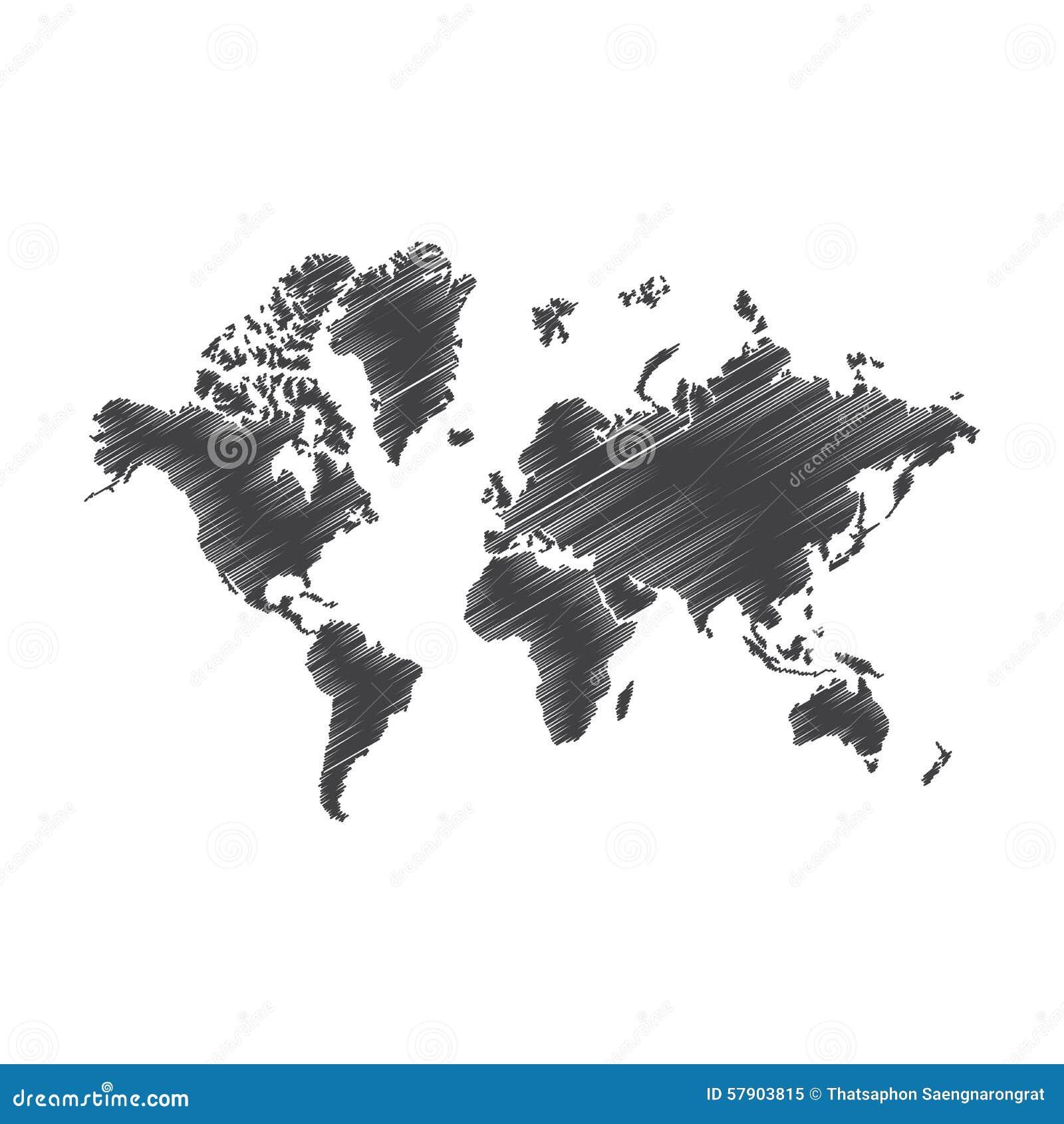 Pen art sketch drawing world map illustration stock vector art drawing illustration map pen sketch web world sciox Images